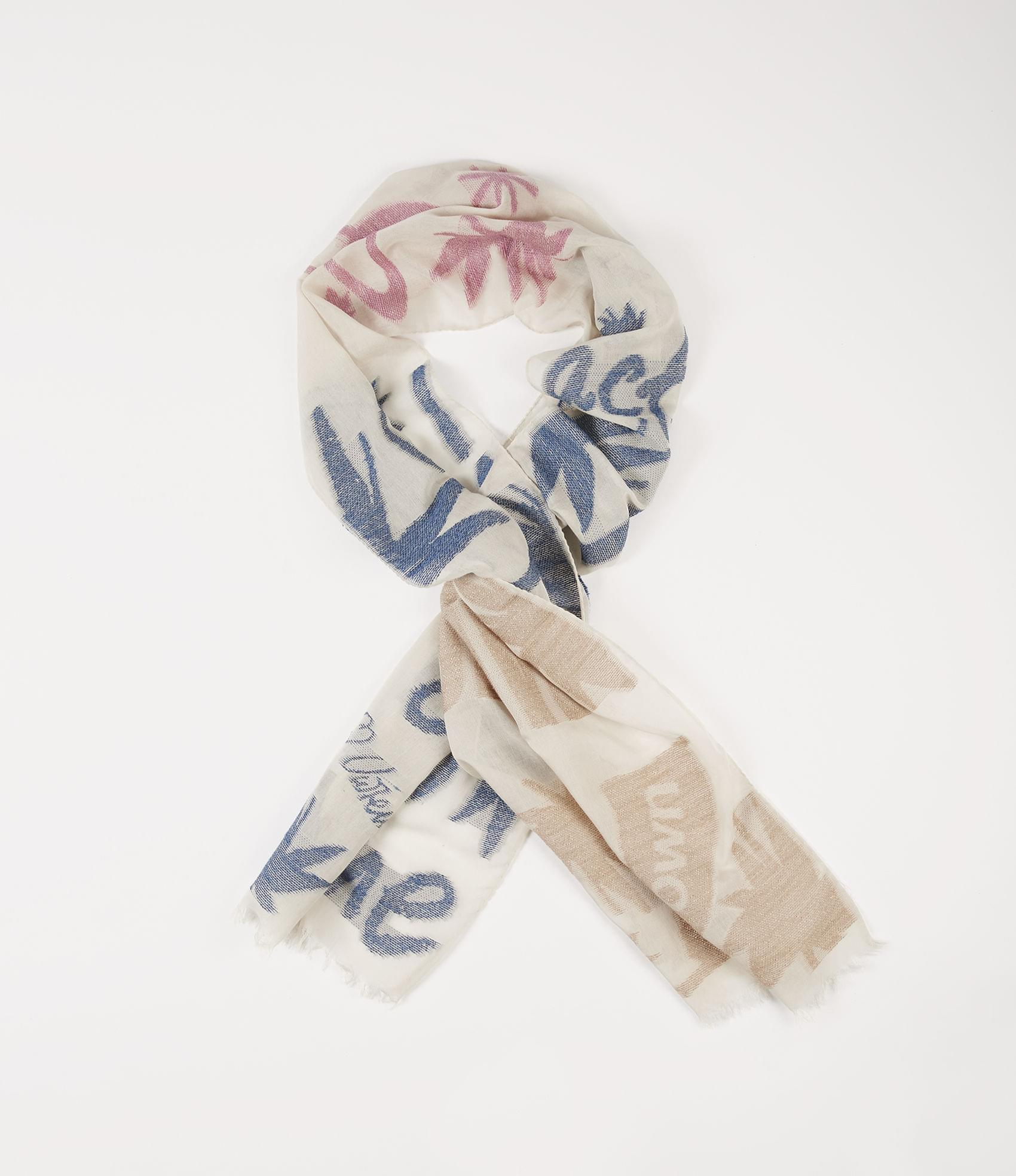 Vivienne Westwood ACT FAST SCARF BLUE