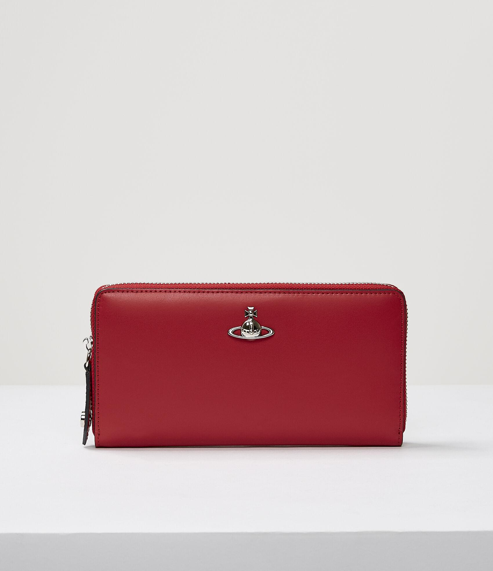 Vivienne Westwood ALEX ZIP ROUND WALLET RED