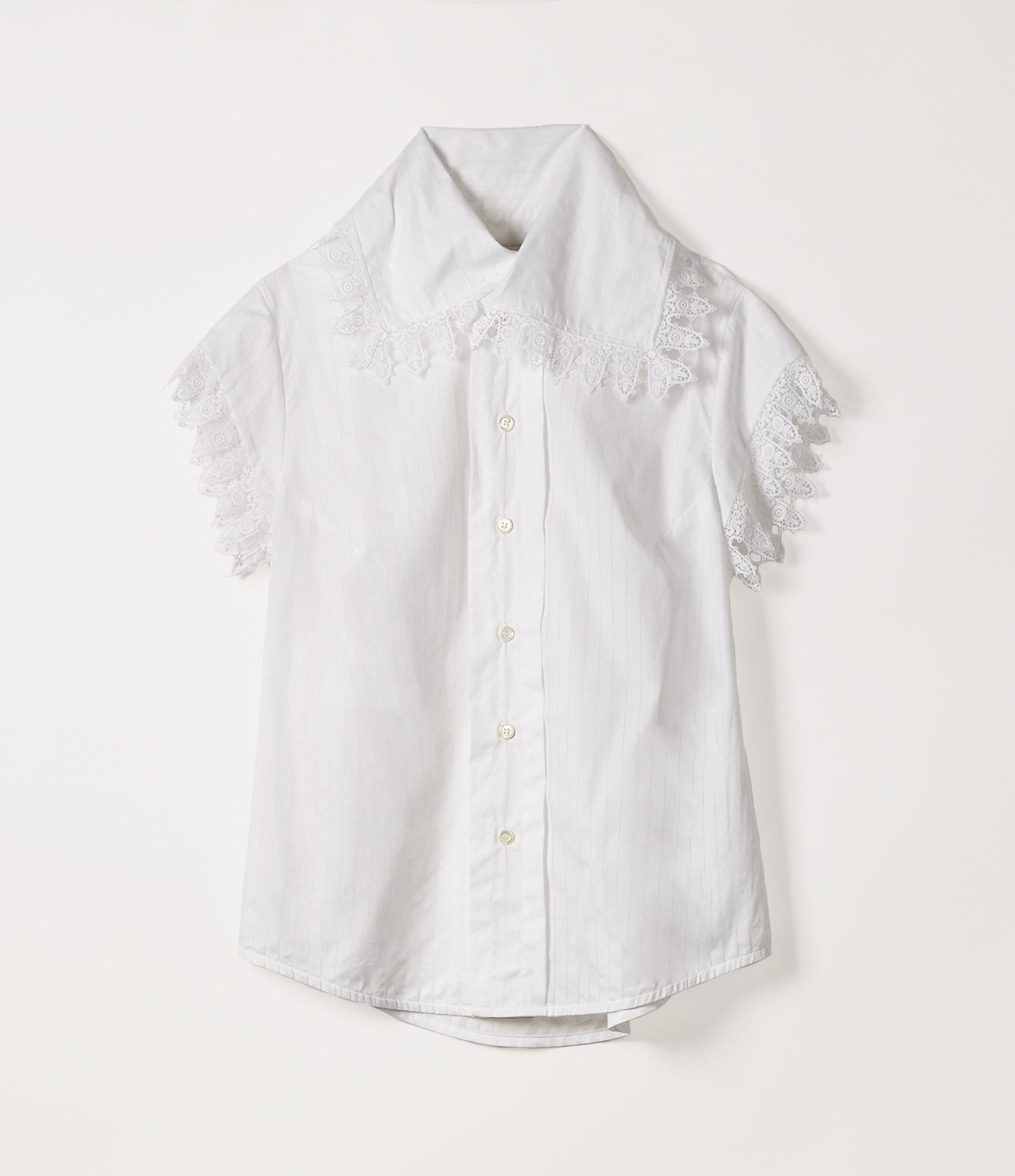 Vivienne Westwood APPROACH SHIRT ROMANTIC STRIPE WHITE