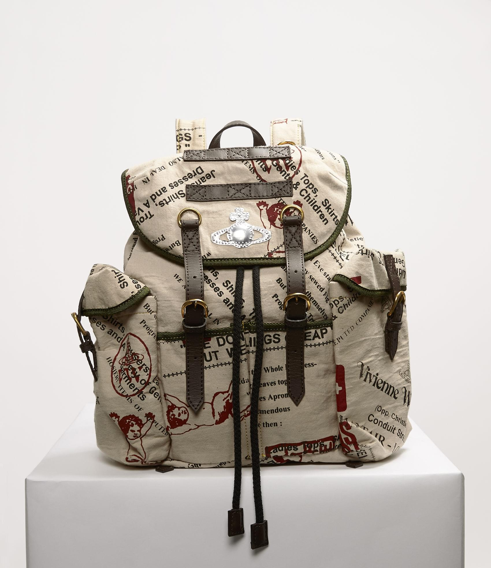 Vivienne Westwood BOSTON ARMY SMALL RUCKSACK BEIGE