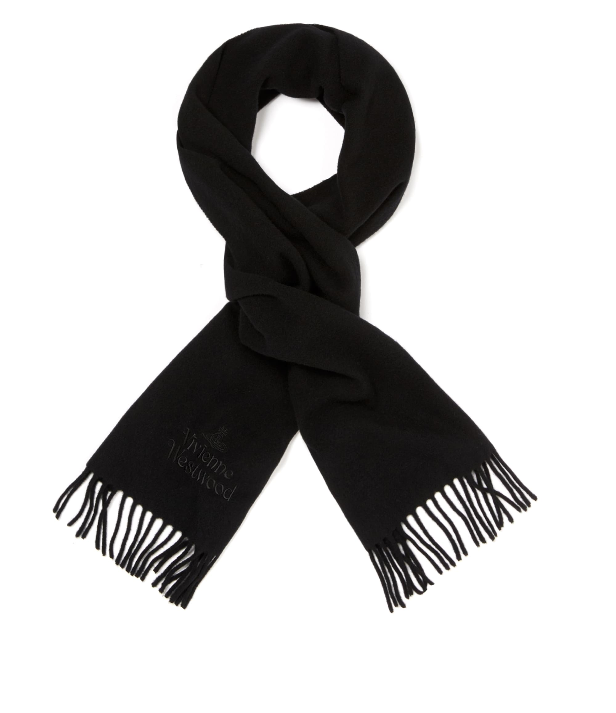 Vivienne Westwood Classic Embroidered Scarf Black