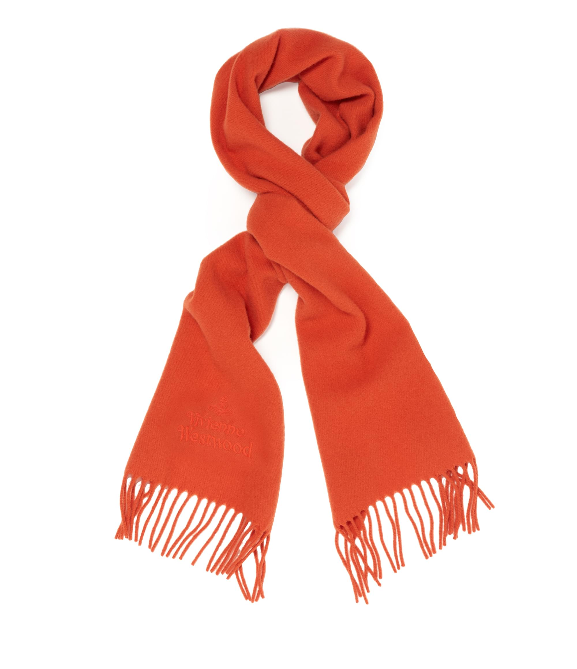 Vivienne Westwood Classic Embroidered Scarf Orange