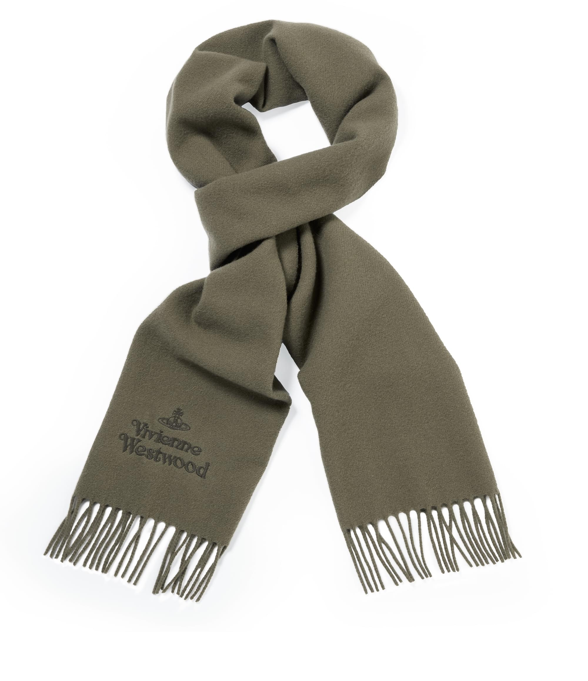 Vivienne Westwood Classic Embroidered Scarf Taupe