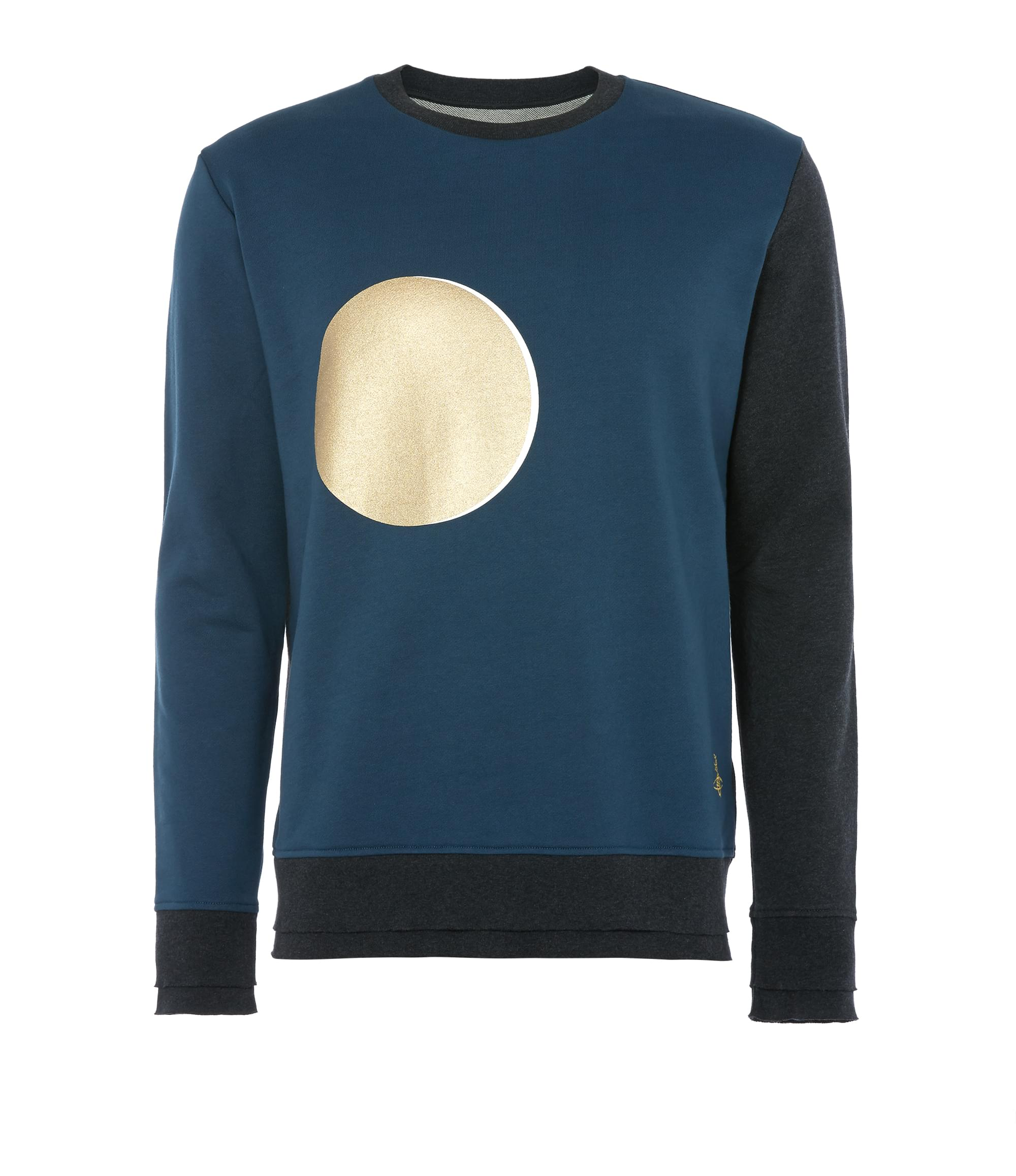 Vivienne Westwood Classic Round Neck Sweater Petrol Blue and Bla