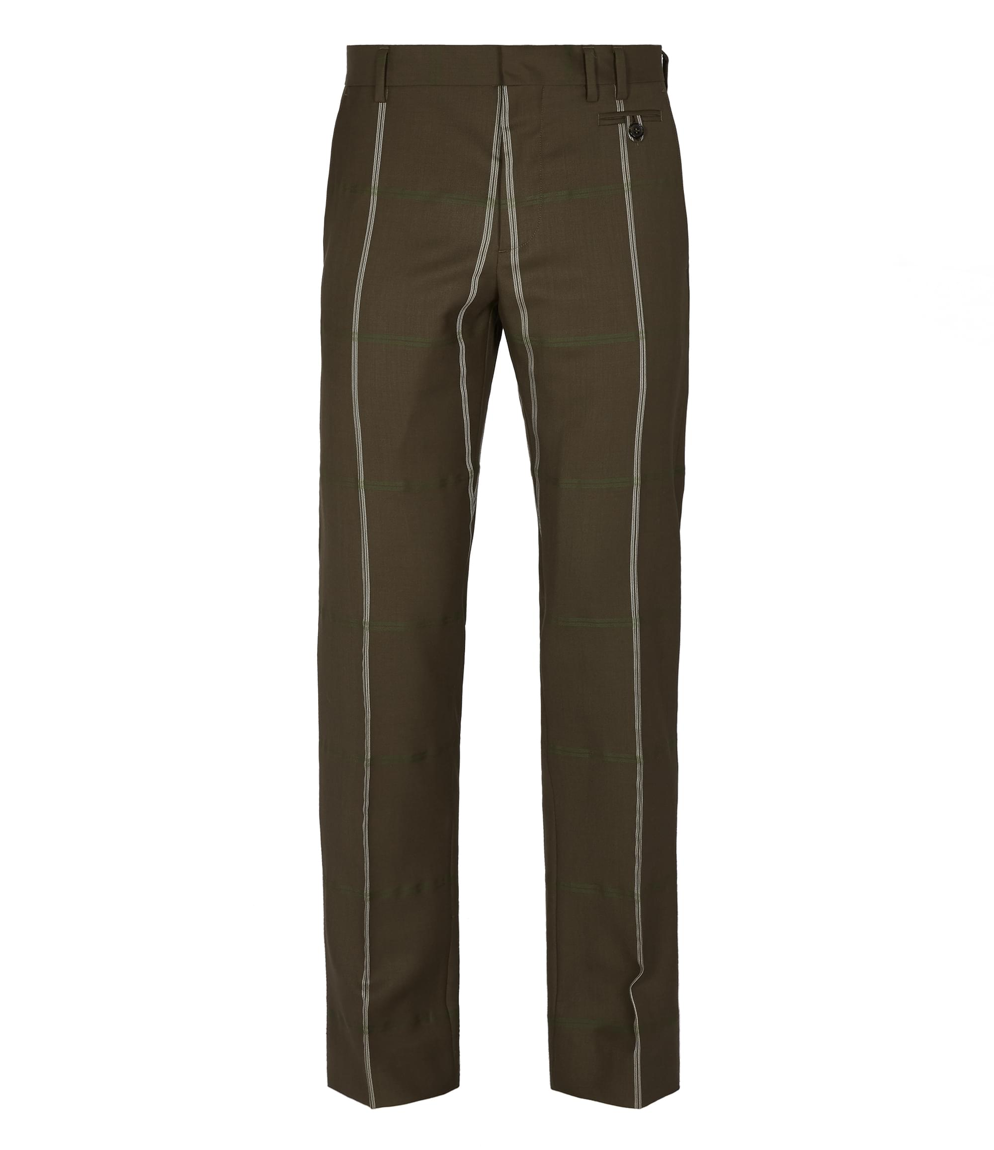 Vivienne Westwood Classic Wool Trousers Brown Check