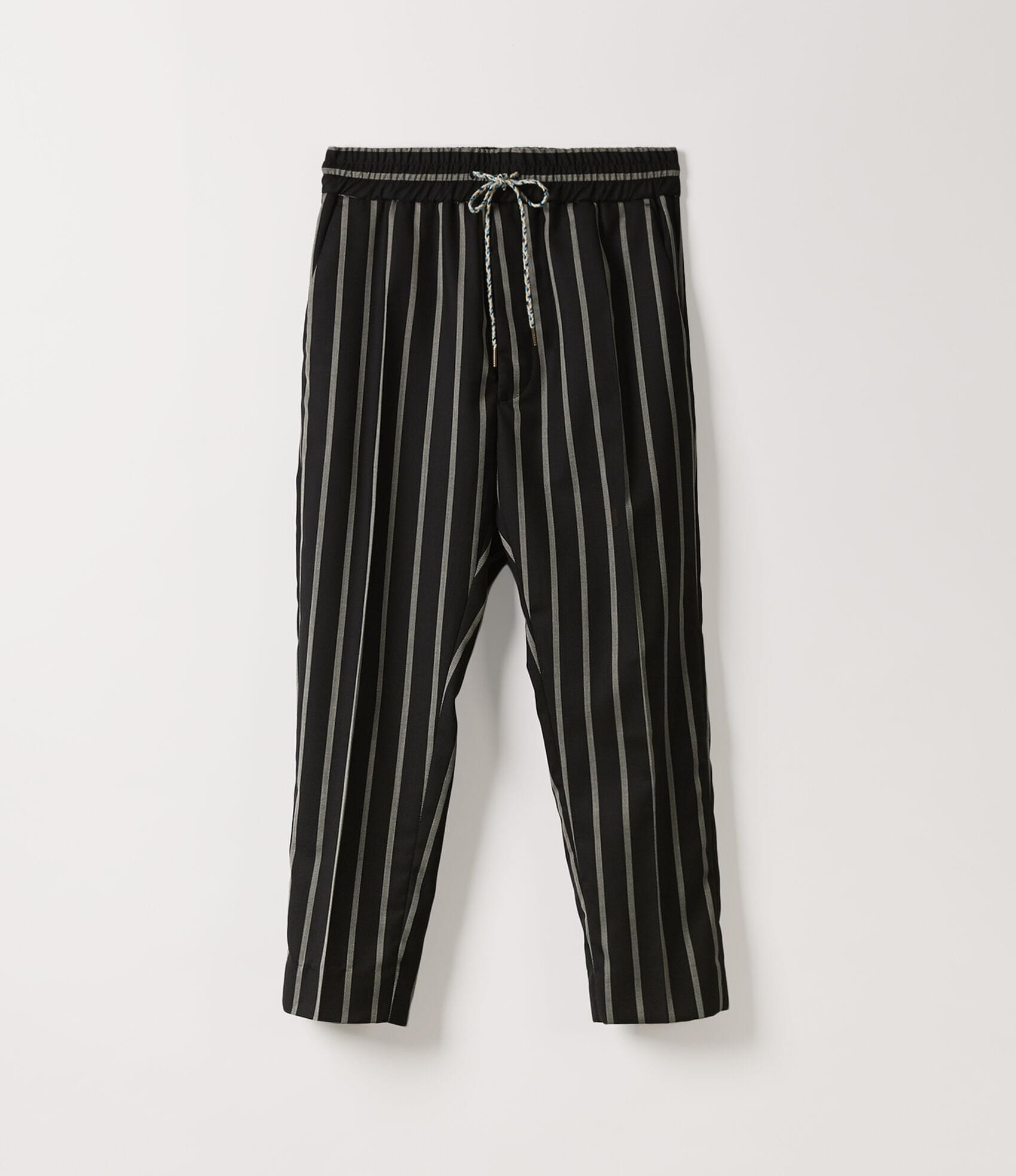 Vivienne Westwood ELASTIC CROPPED GEORGE TROUSERS BLACK/WHITE ST