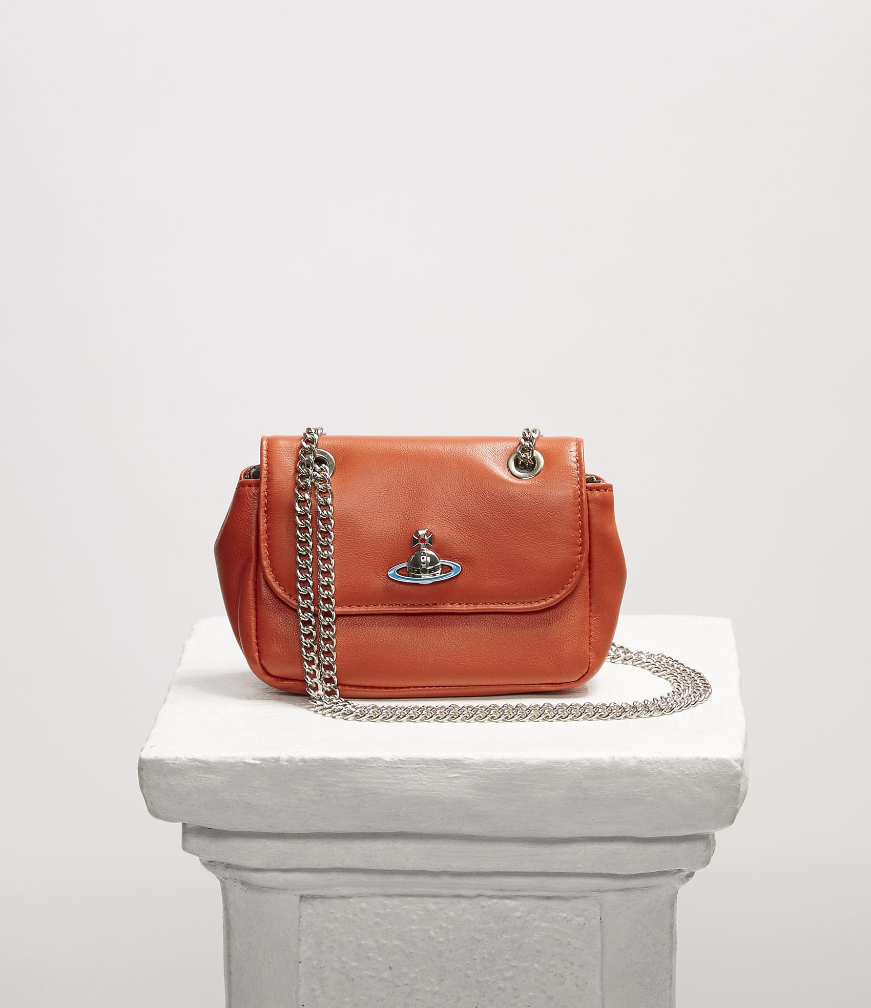 Vivienne Westwood EMMA SMALL PURSE WITH CHAIN ORANGE