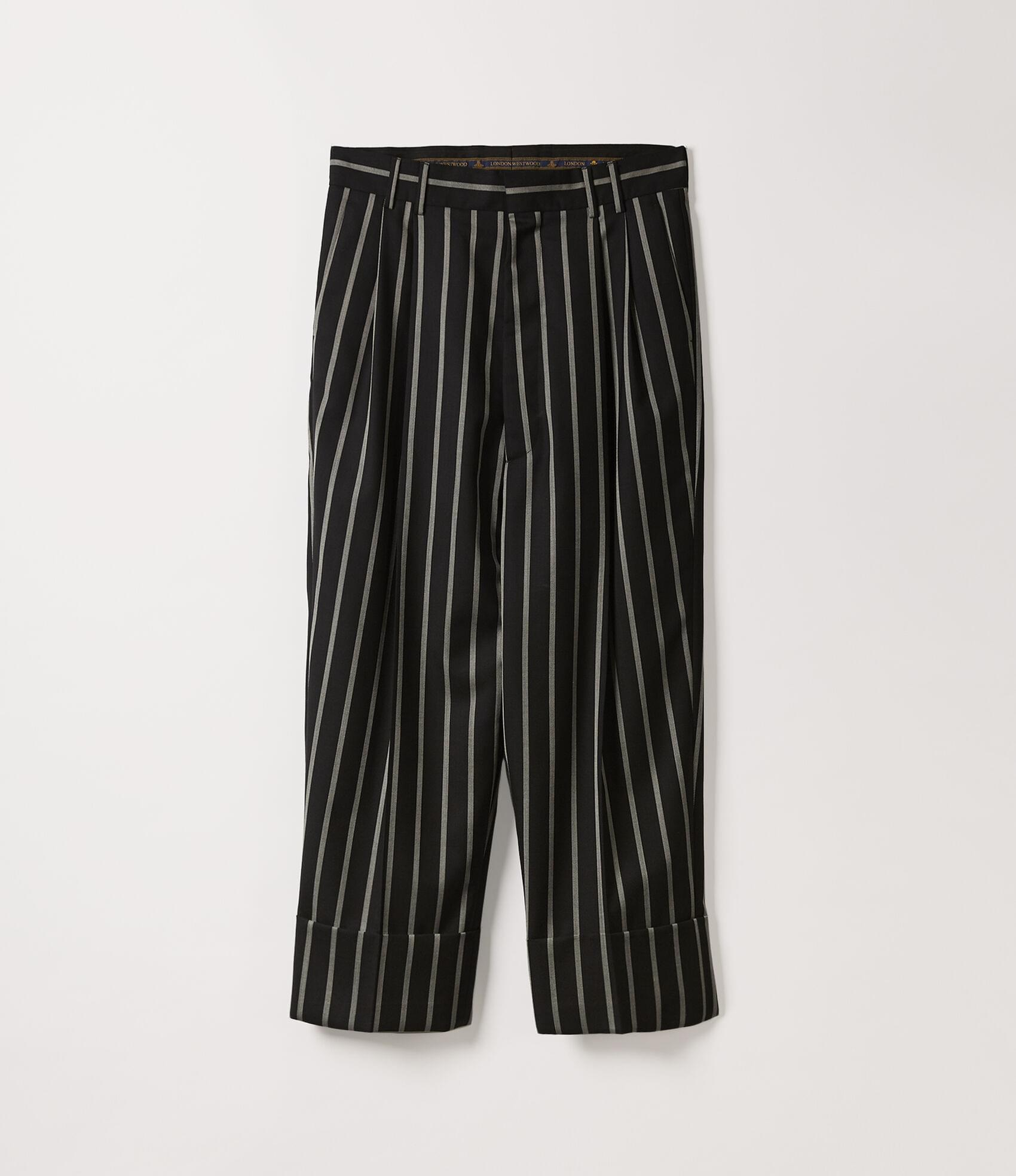 Vivienne Westwood GABLE TROUSERS BLACK/WHITE STRIPES