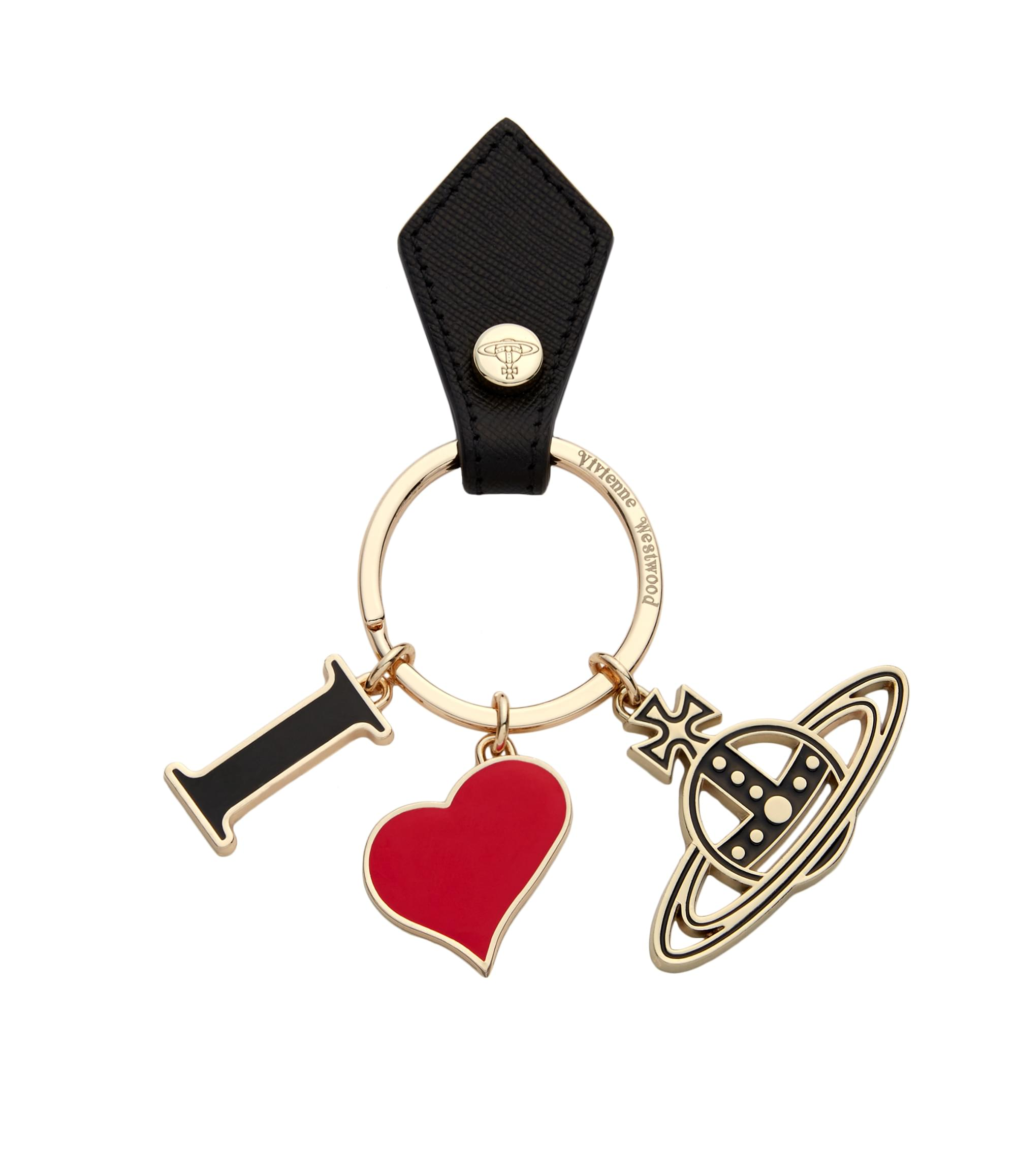 Vivienne Westwood I Love Orb Key Ring 321566 Black