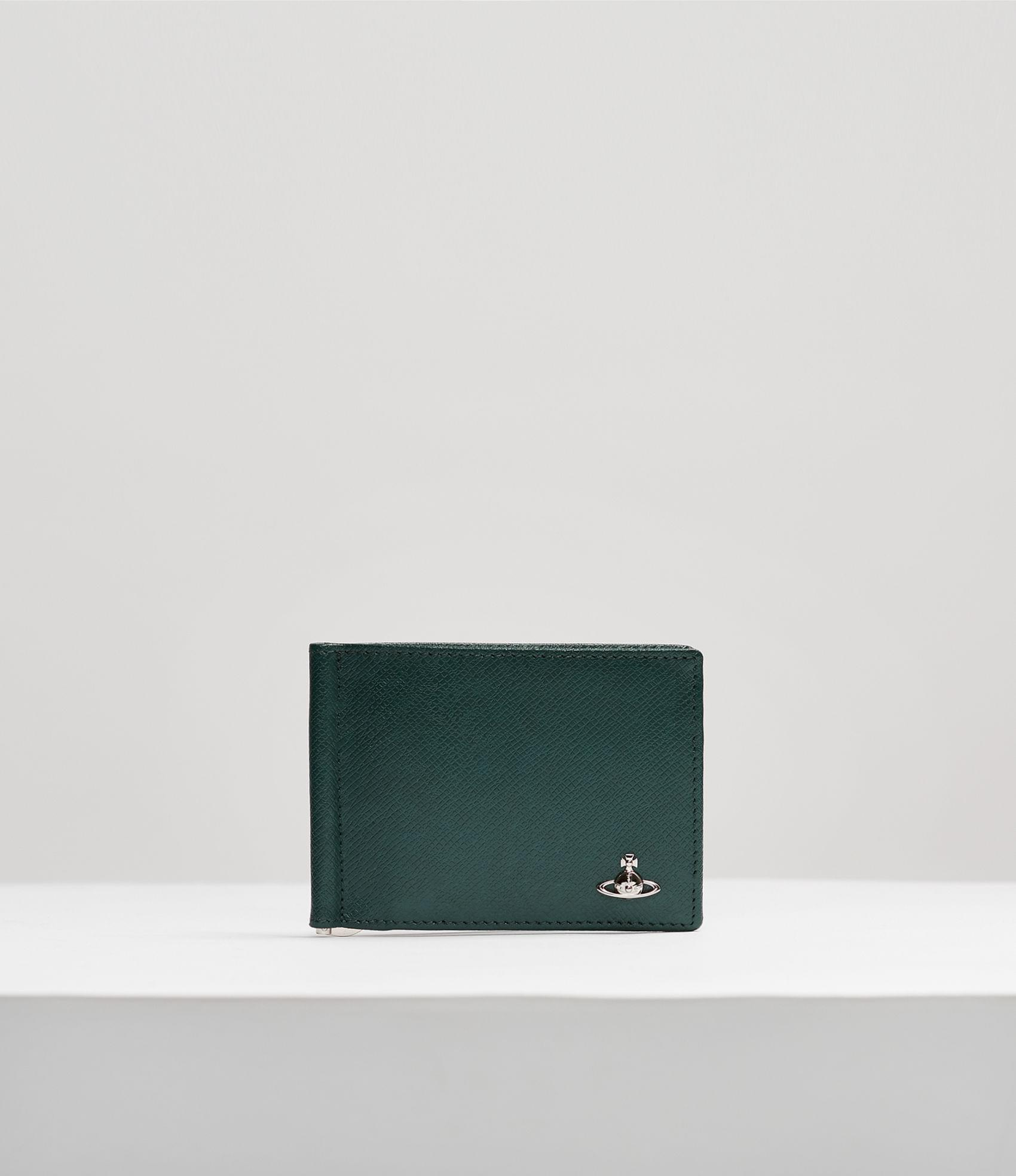 Vivienne Westwood KENT BILLFOLD WITH MONEY CLIP PETROL