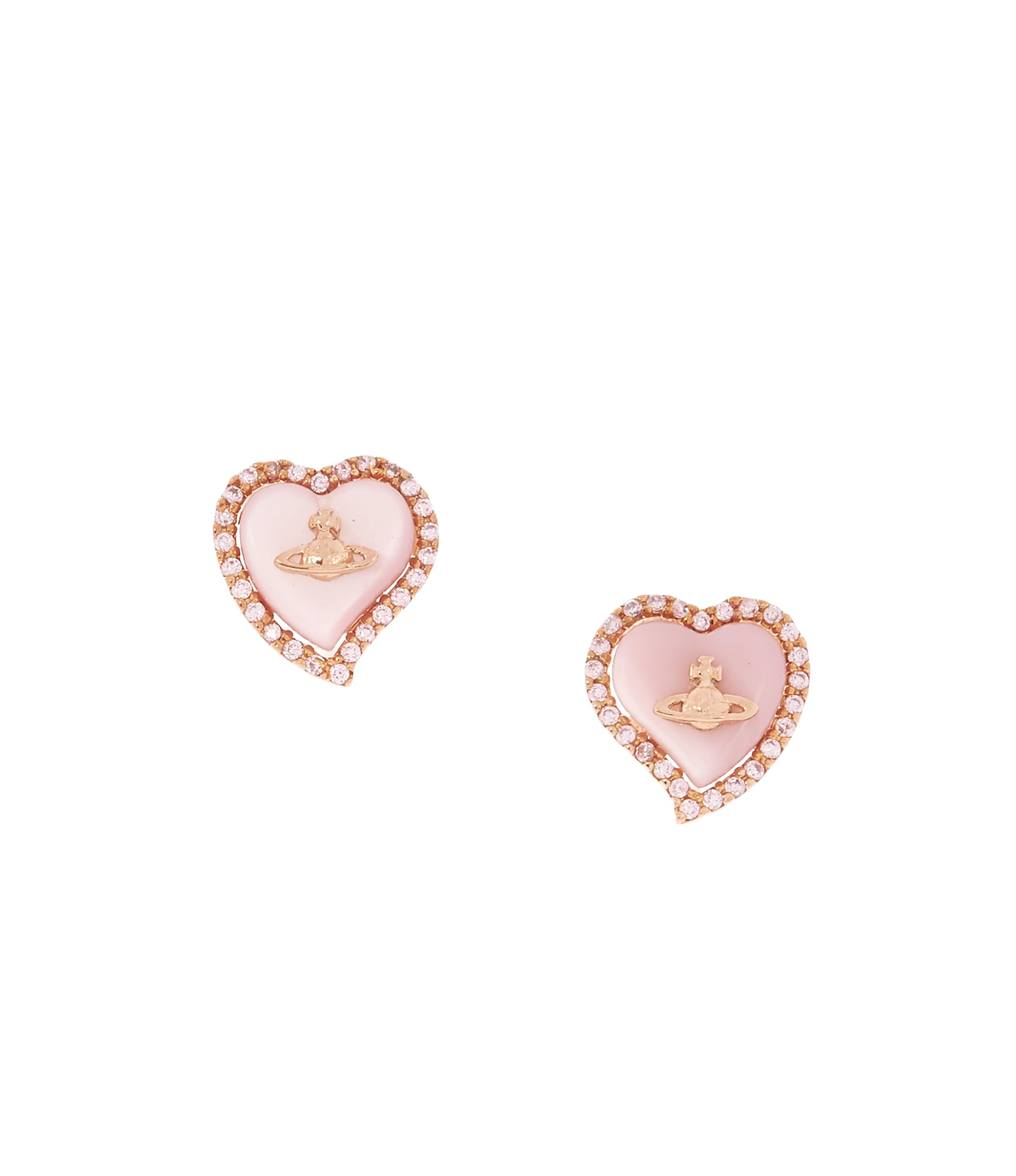 Vivienne Westwood Leontyne Heart Earrings Pink