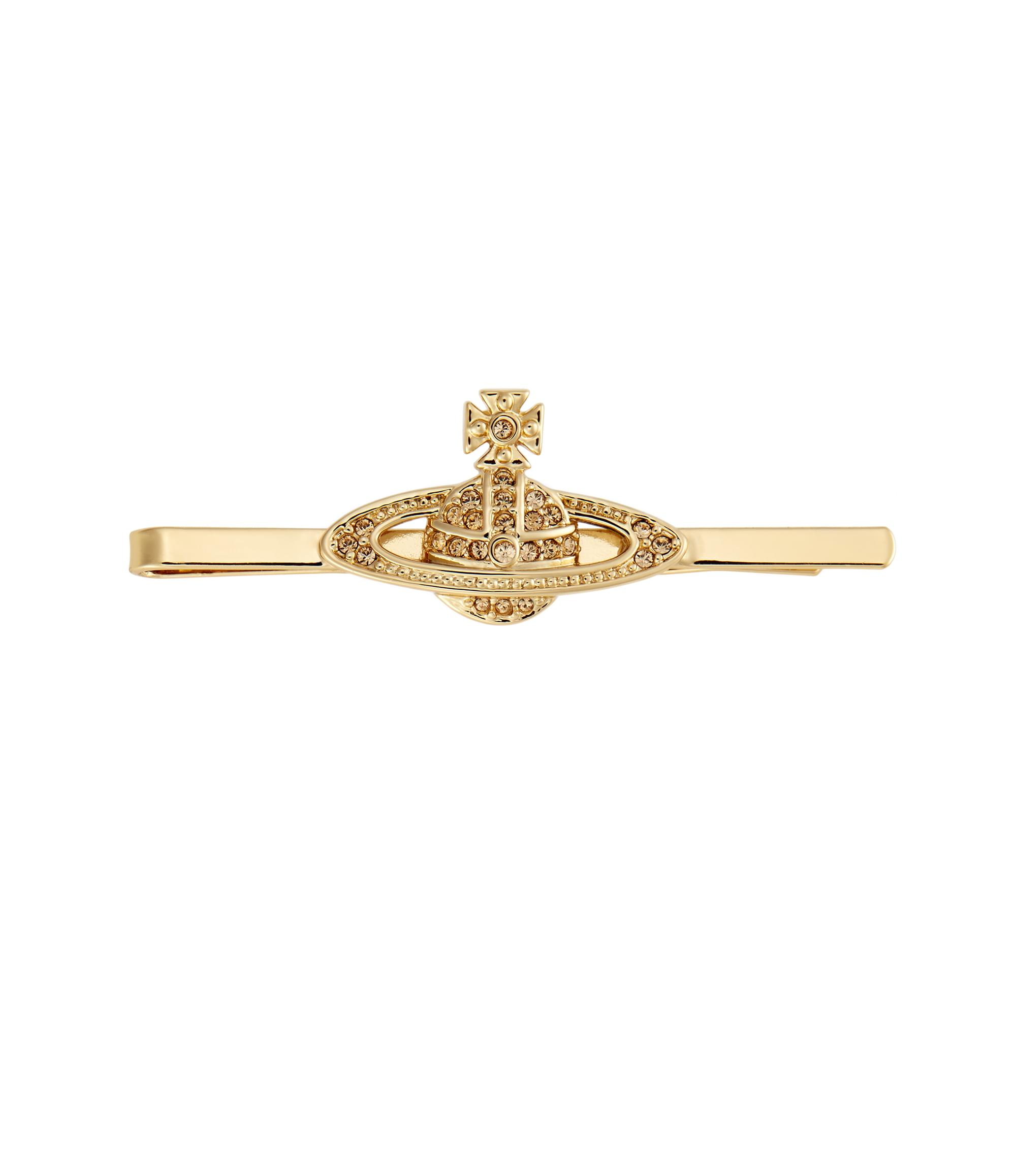 Vivienne Westwood Light Topaz Mini Bas Relief Tie Clip