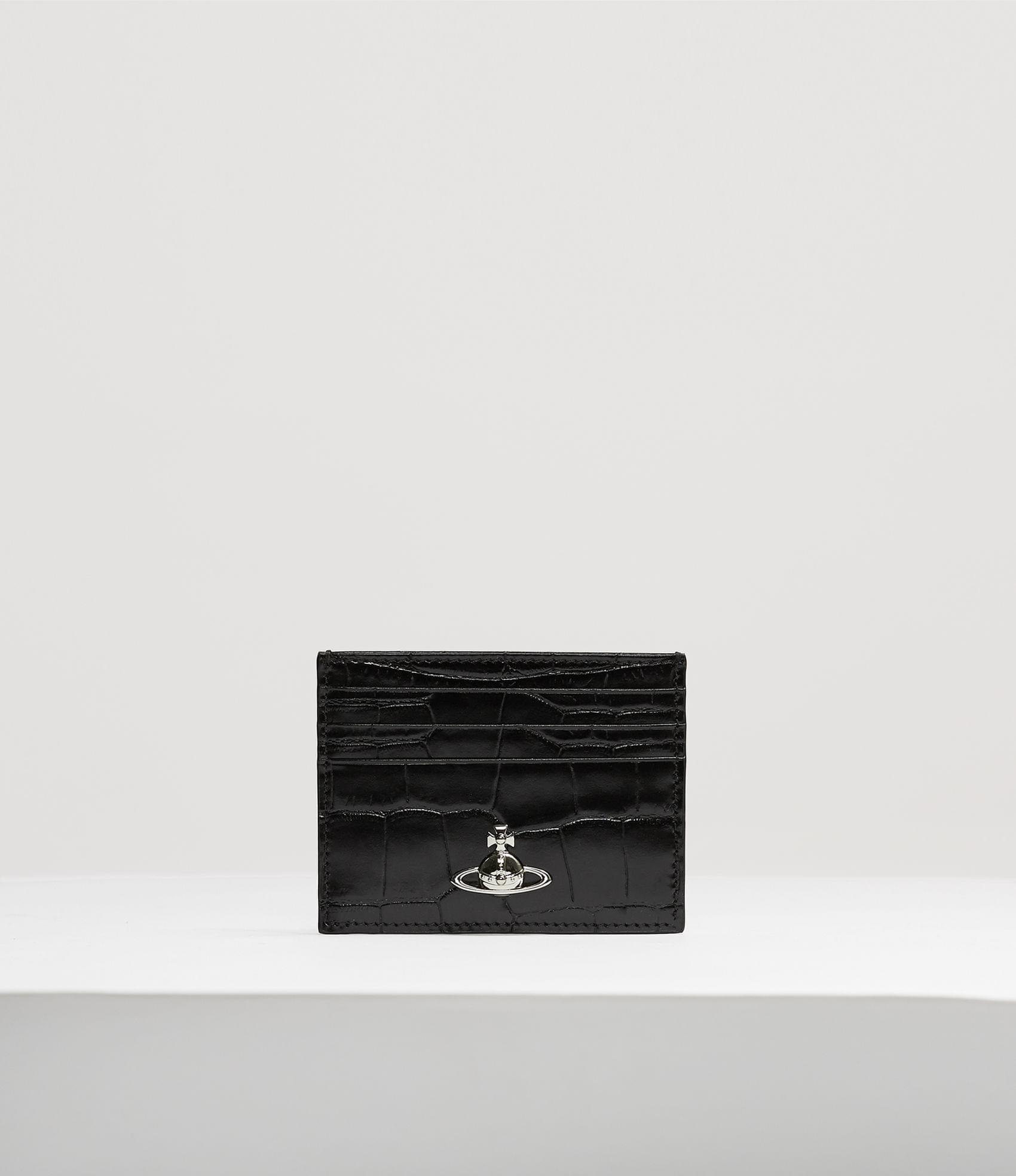 Vivienne Westwood LISA FLAT CARD HOLDER BLACK
