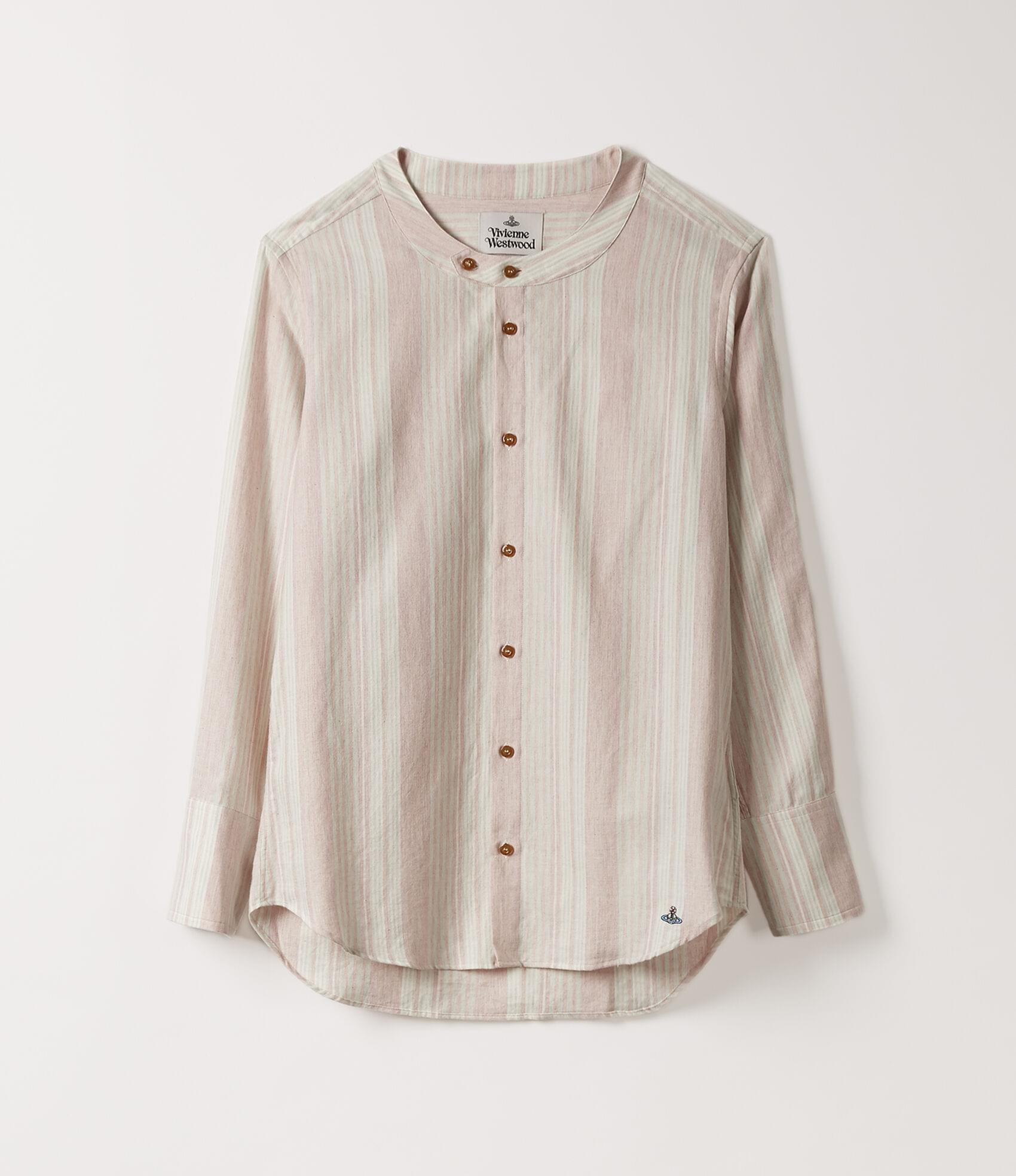 Vivienne Westwood LOW-NECK SHIRT NATURAL STRIPES