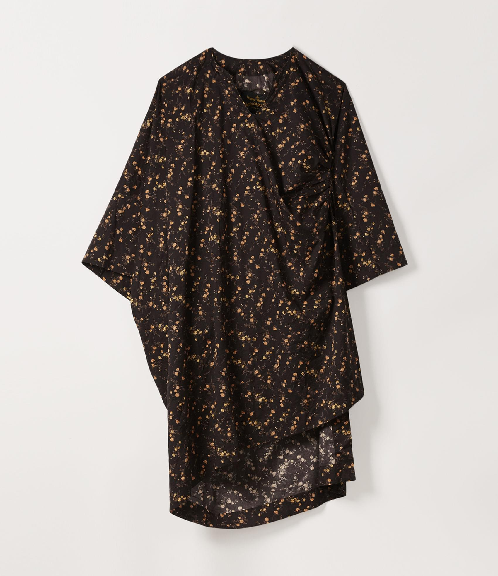 Vivienne Westwood MINI KAFTAN DRESS BROWN/BLACK