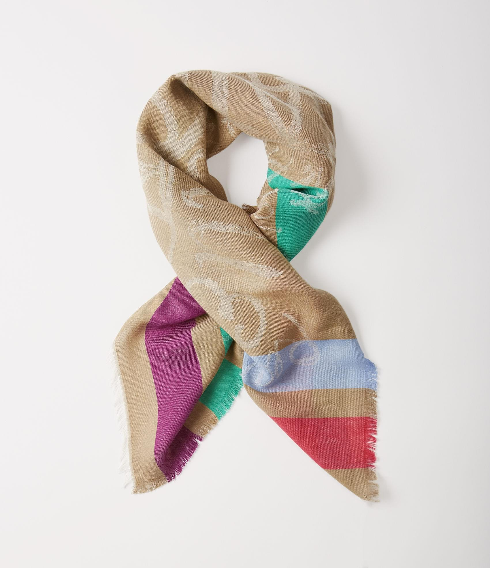 Vivienne Westwood MIRROR THE WORLD SQUARE FOULARD CAMEL