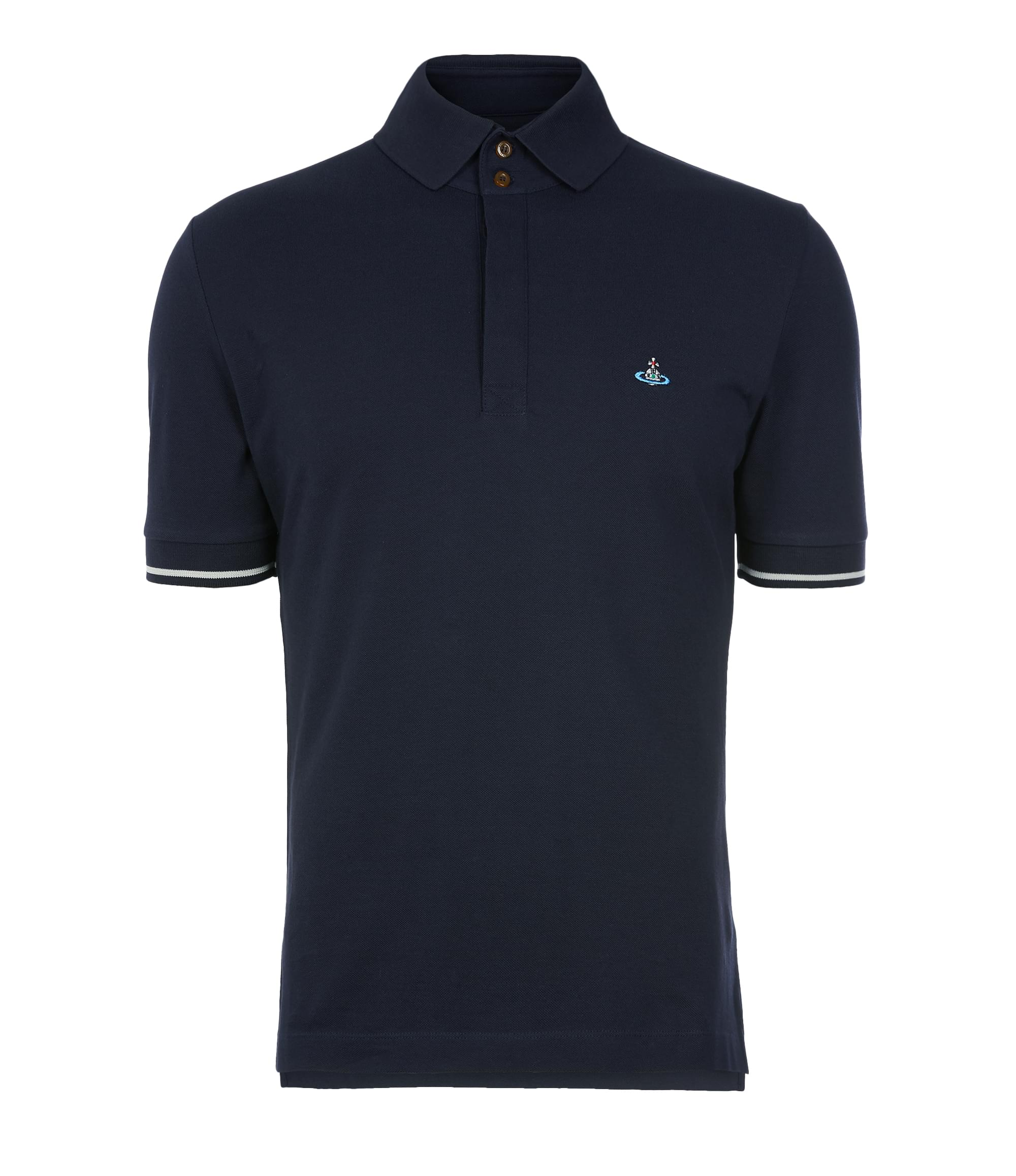 Vivienne Westwood Overlock Polo Shirt Navy
