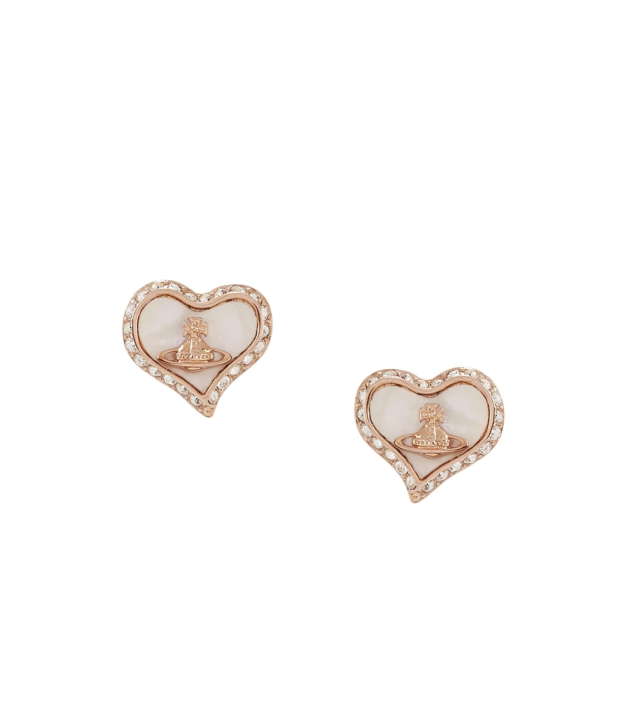 Vivienne Westwood Petra Earrings Pink Gold