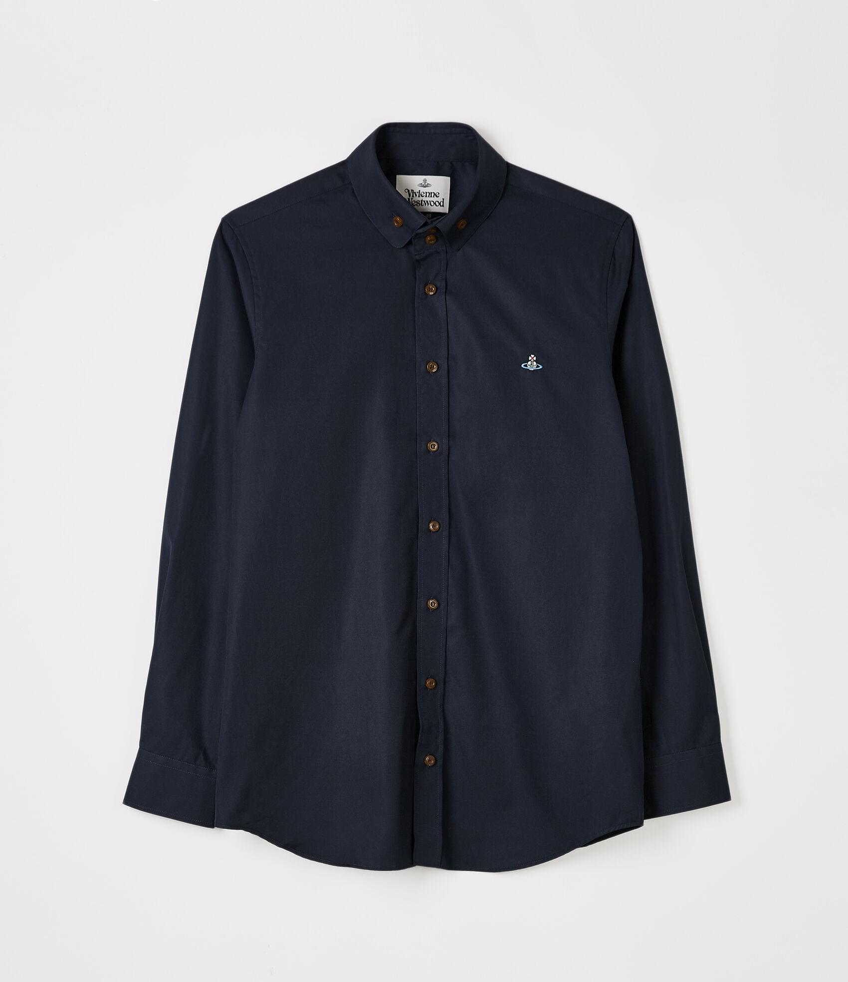 Vivienne Westwood TWO BUTTON KRALL SHIRT NAVY