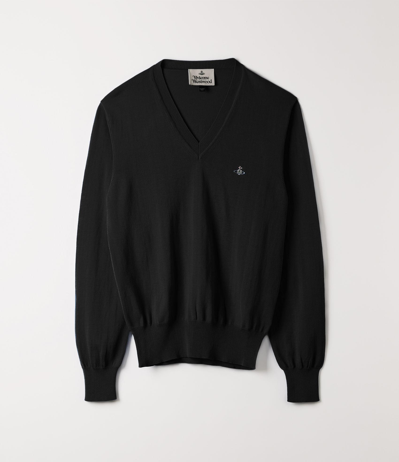 Vivienne Westwood V-NECK KNIT BLACK