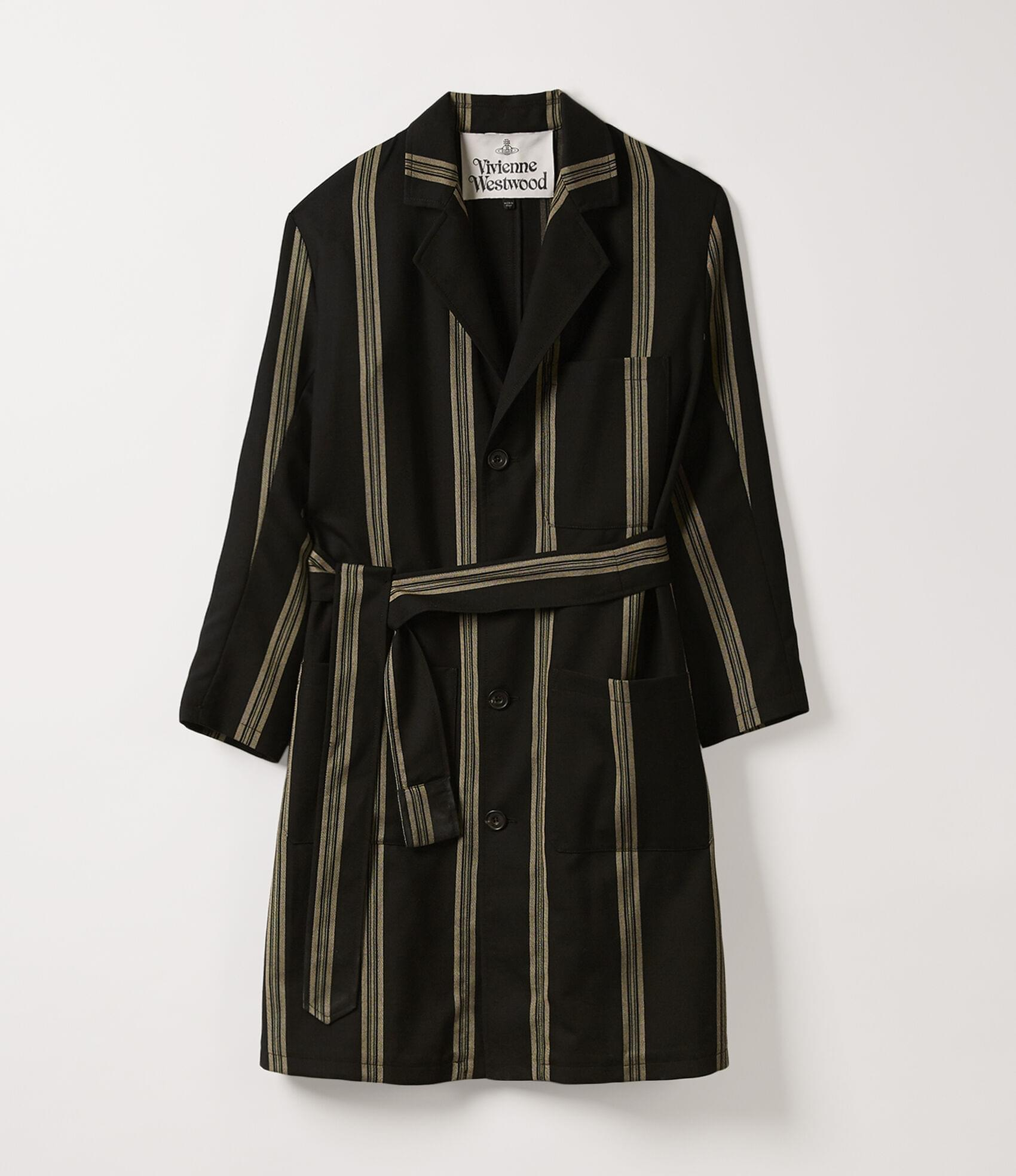 Vivienne Westwood WORKER COAT BLACK NATURAL STRIPES