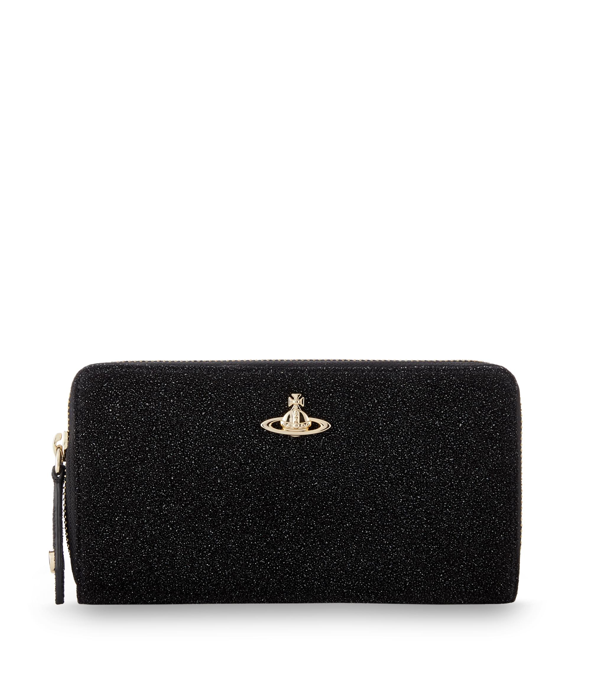 Vivienne Westwood Angel Zip Round Wallet Black 321350