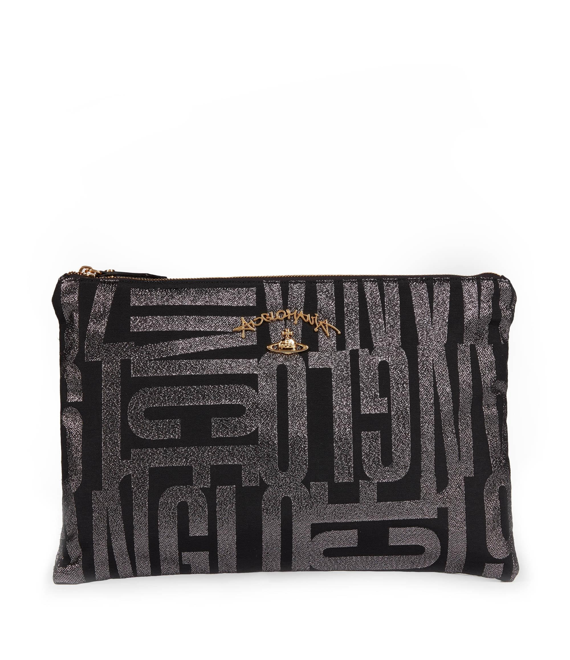 Vivienne Westwood Anglo Jacquard Bag 7106 Anthracite