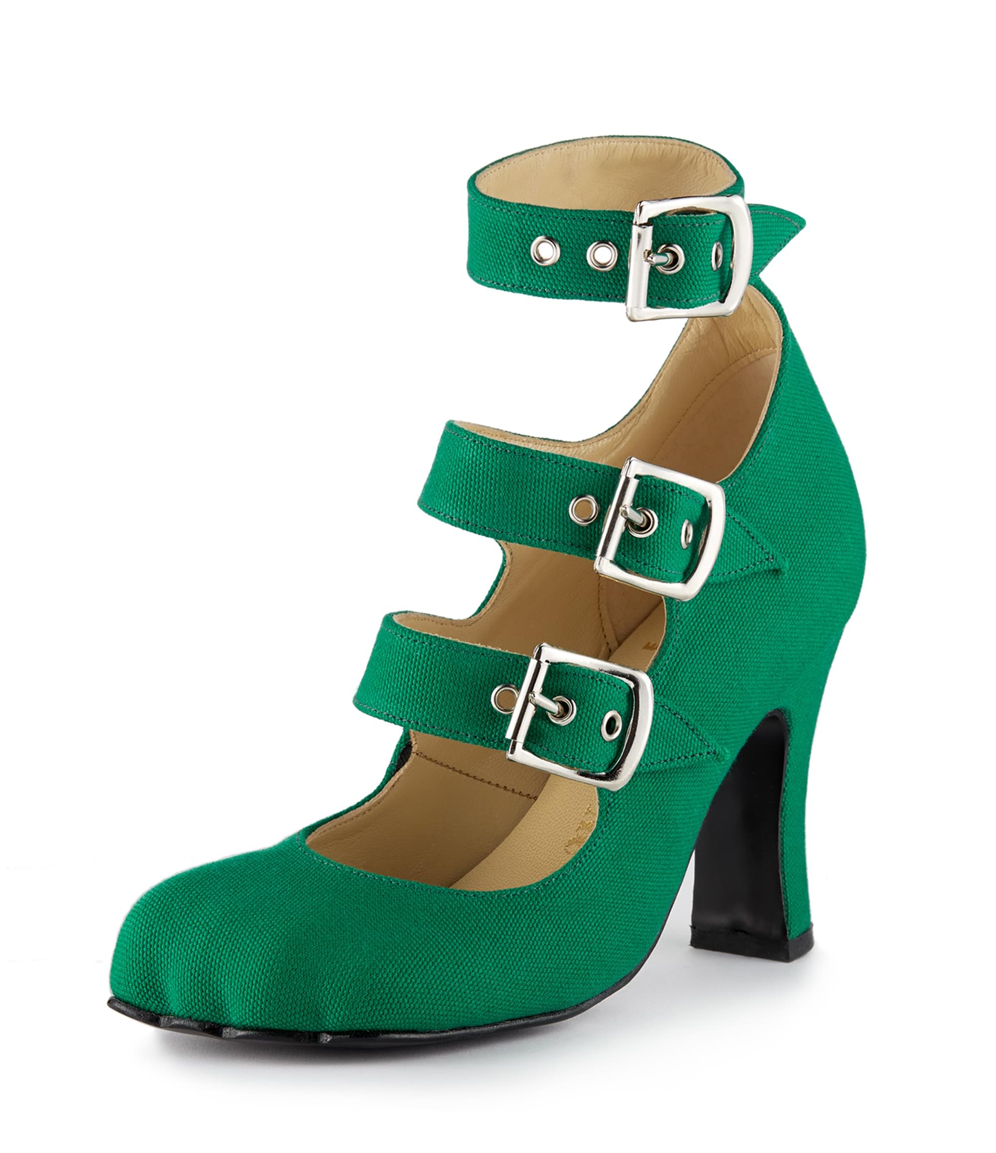 Vivienne Westwood Animal Toe 3 Strap Green