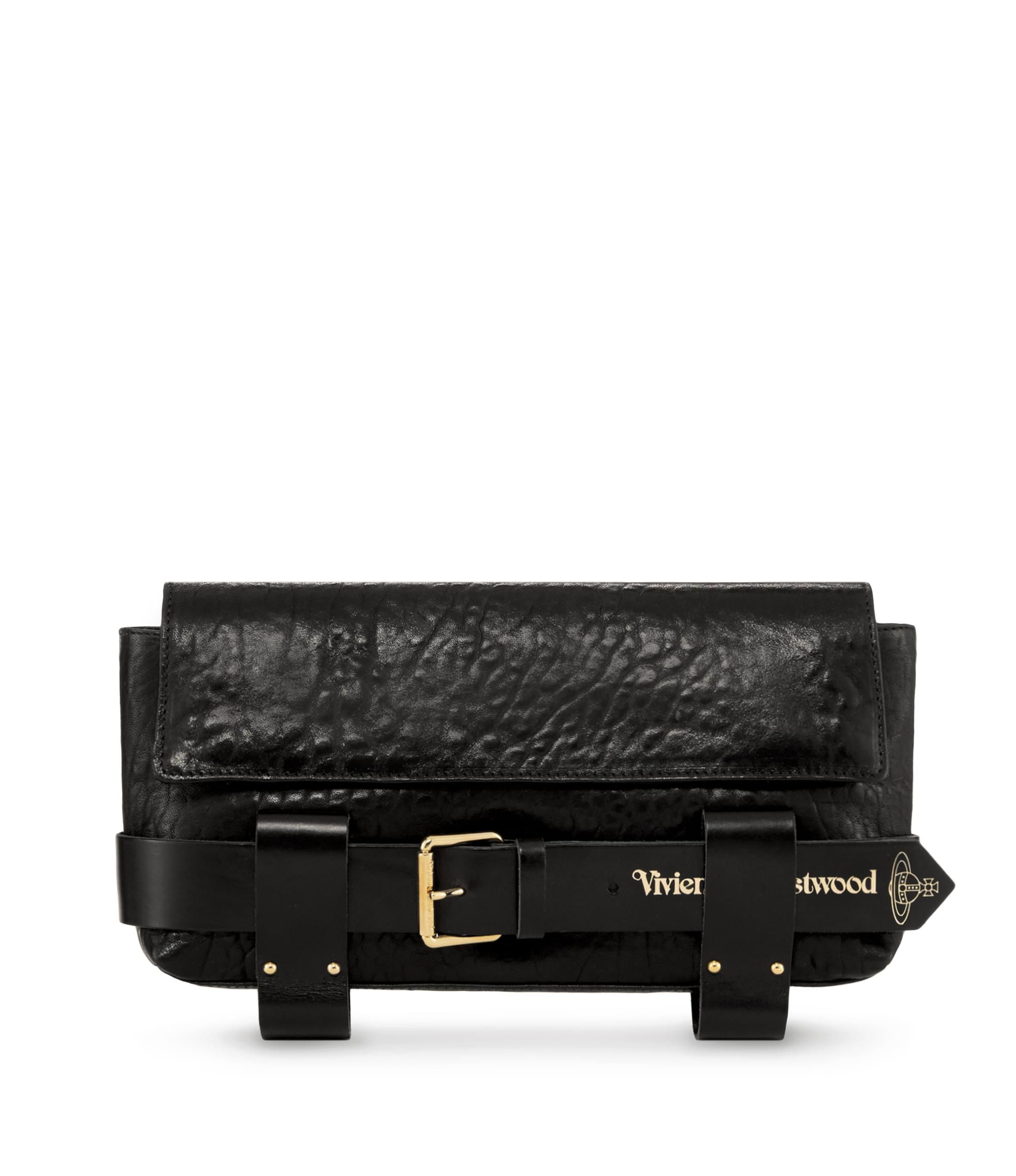 Vivienne Westwood Black Bondage Clutch Bag 7111