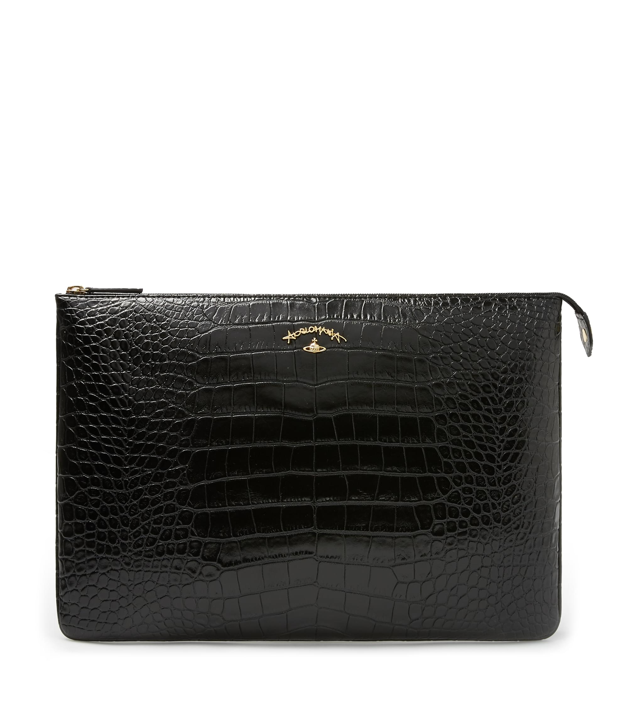 Vivienne Westwood Black Dorset Clutch Bag 6852