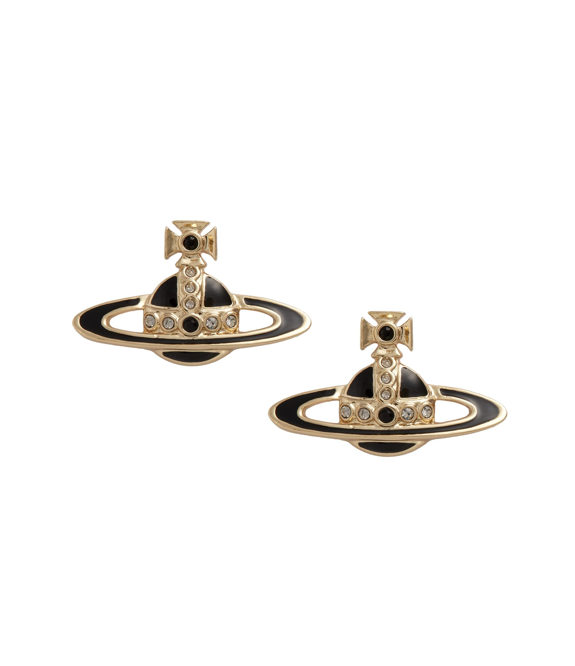 Vivienne Westwood Black Small Neo Bas Relief Earrings