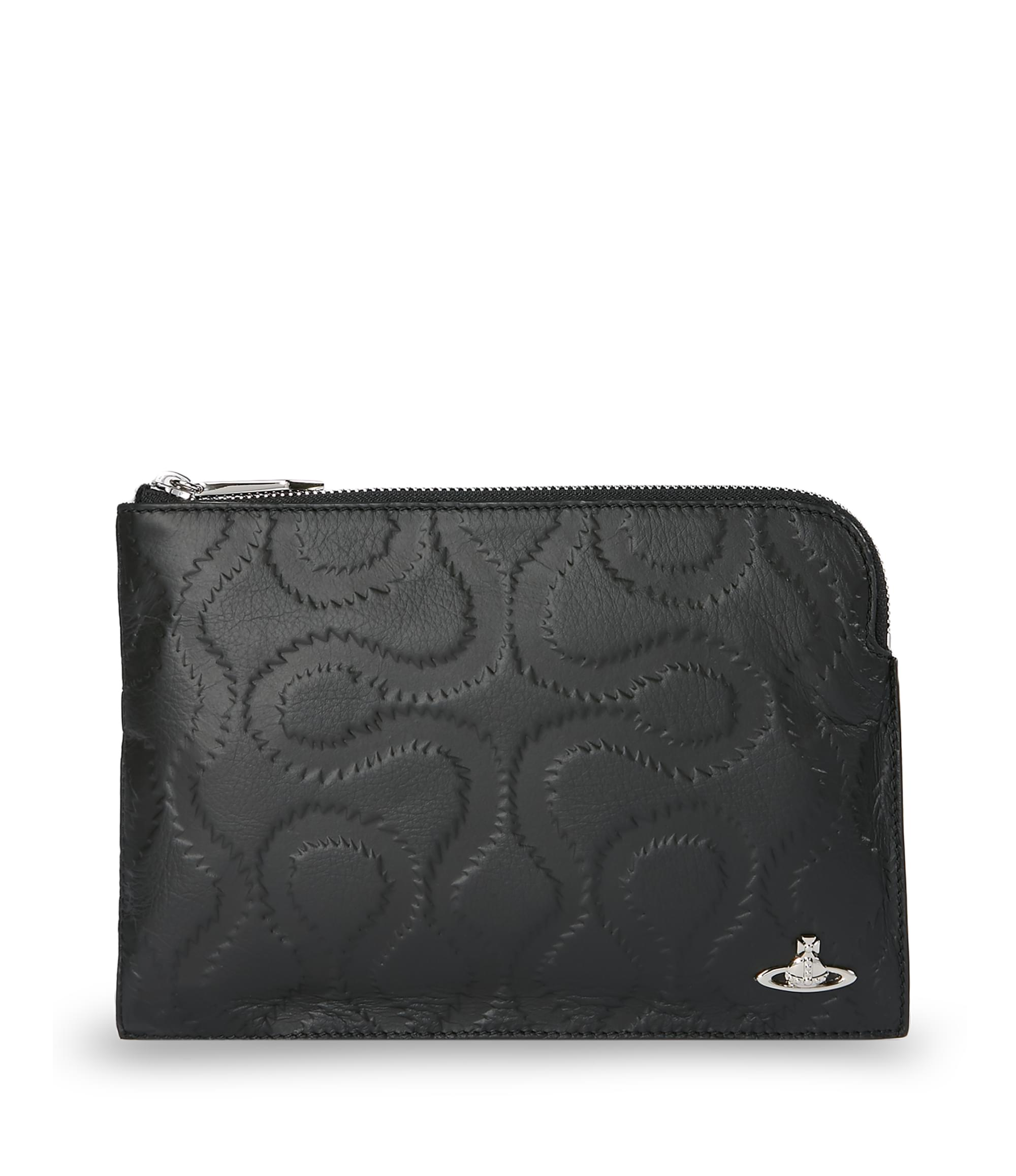 Vivienne Westwood Black Squiggle Small Pouch 131030