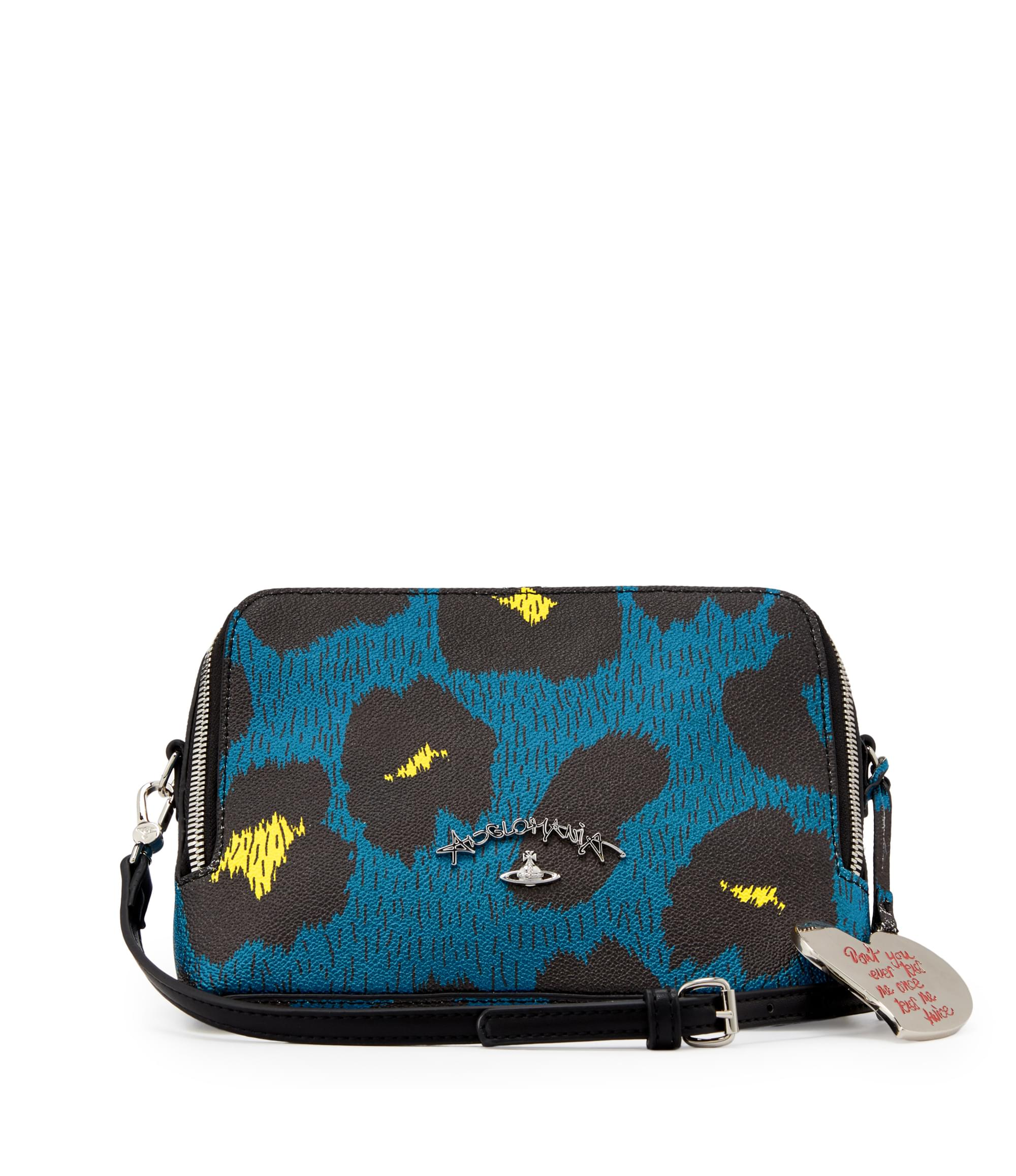 Vivienne Westwood Blue Cross Body Leopardmania Bag 13951