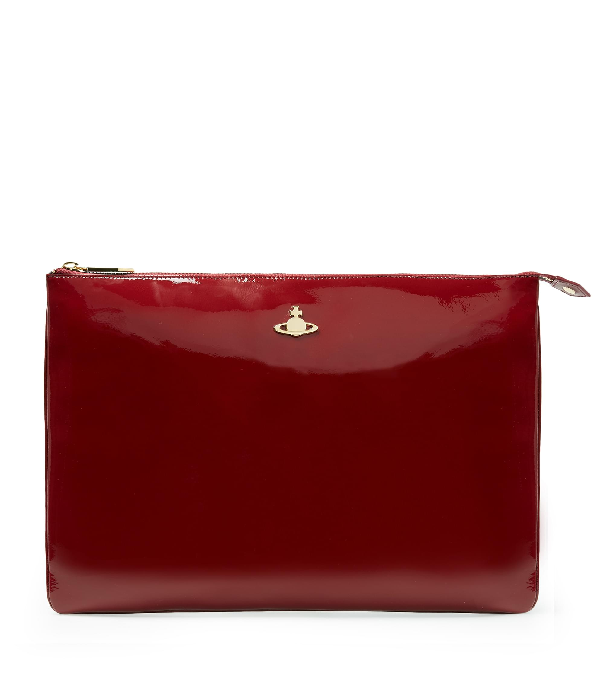 Vivienne Westwood Bordeaux Mirror Ball Clutch Bag 6852