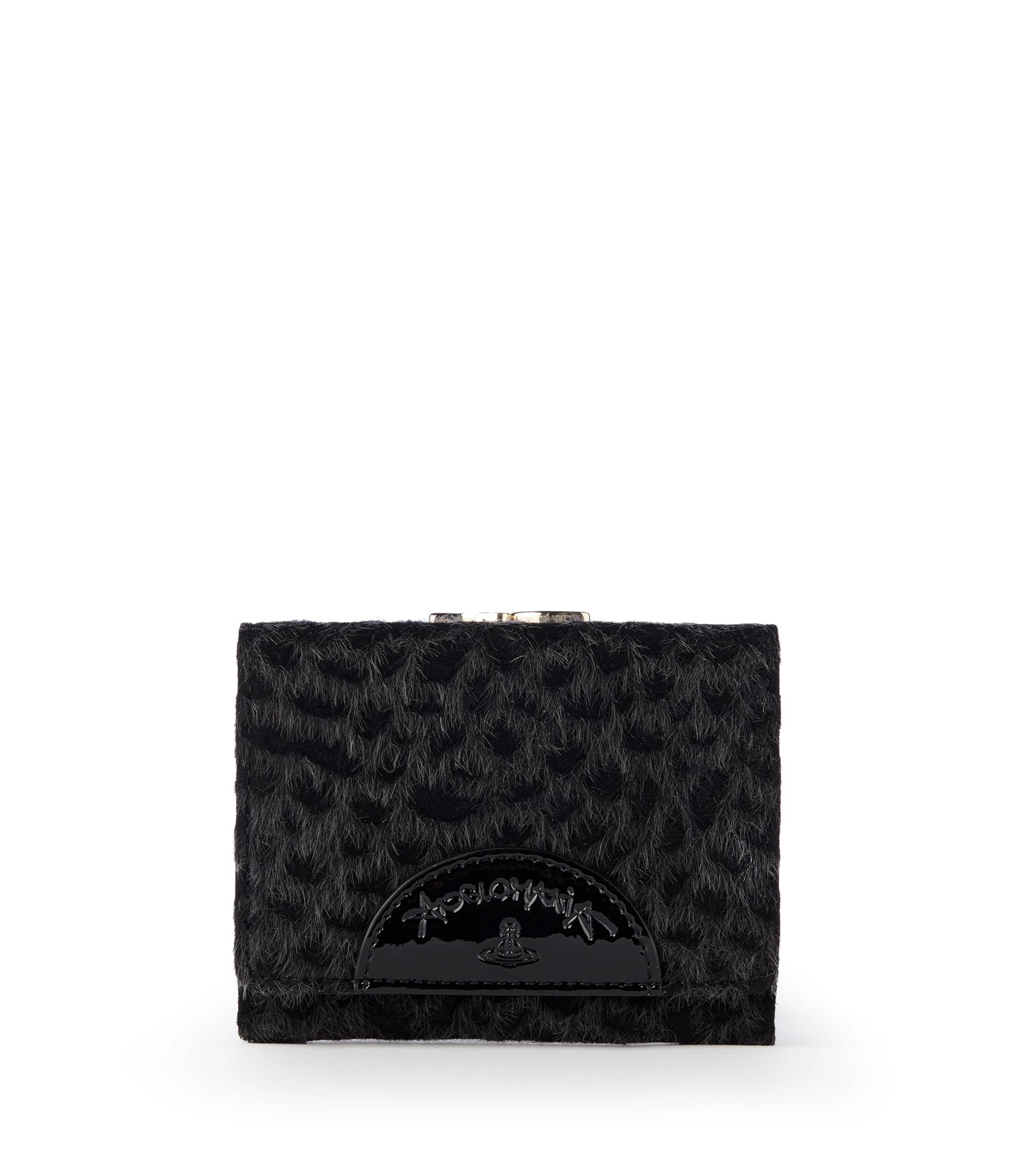 Vivienne Westwood Cheetah Wallet With Coin Pocket 51010001 Black