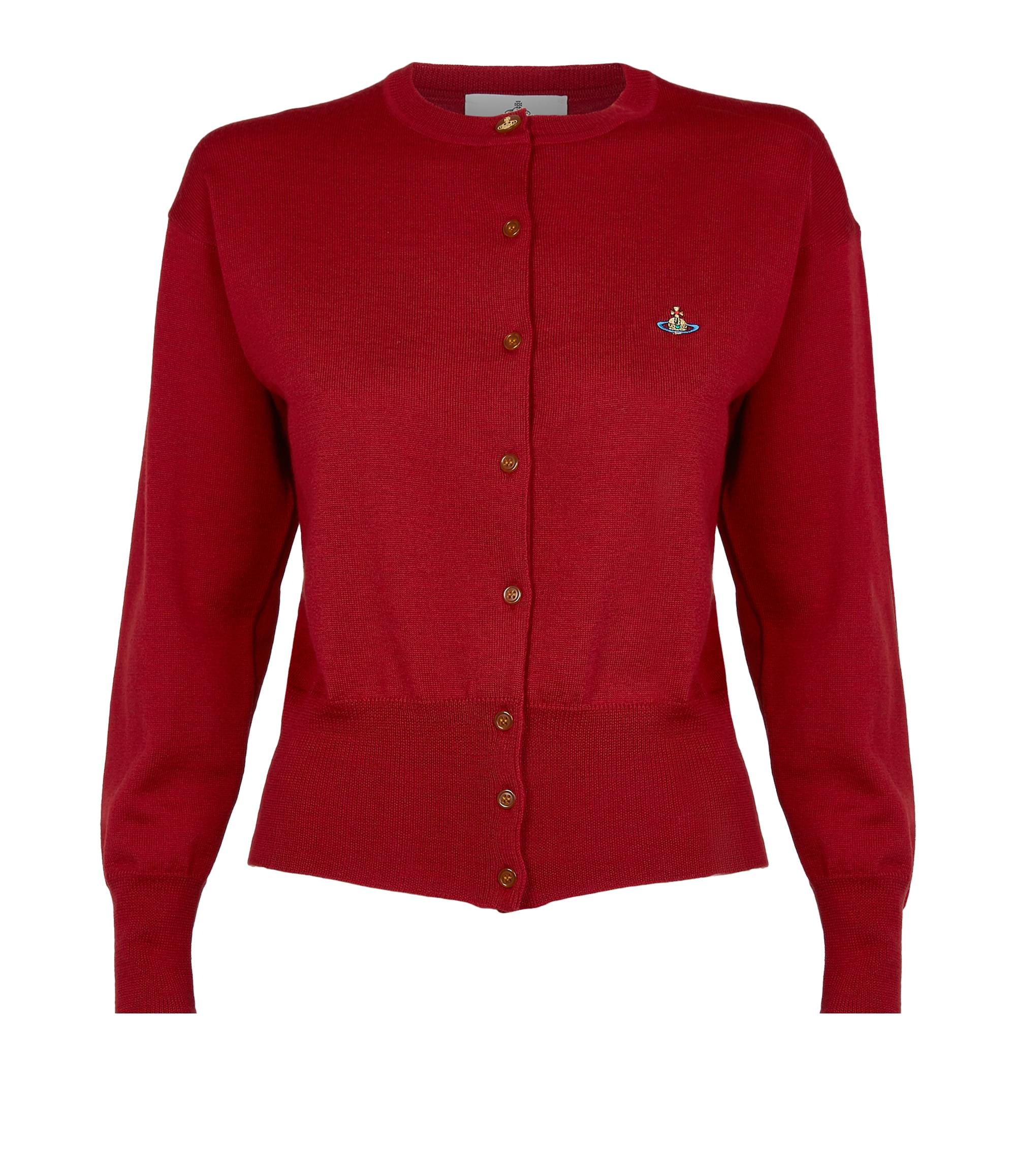 Vivienne Westwood Classic Wool Cardigan Red