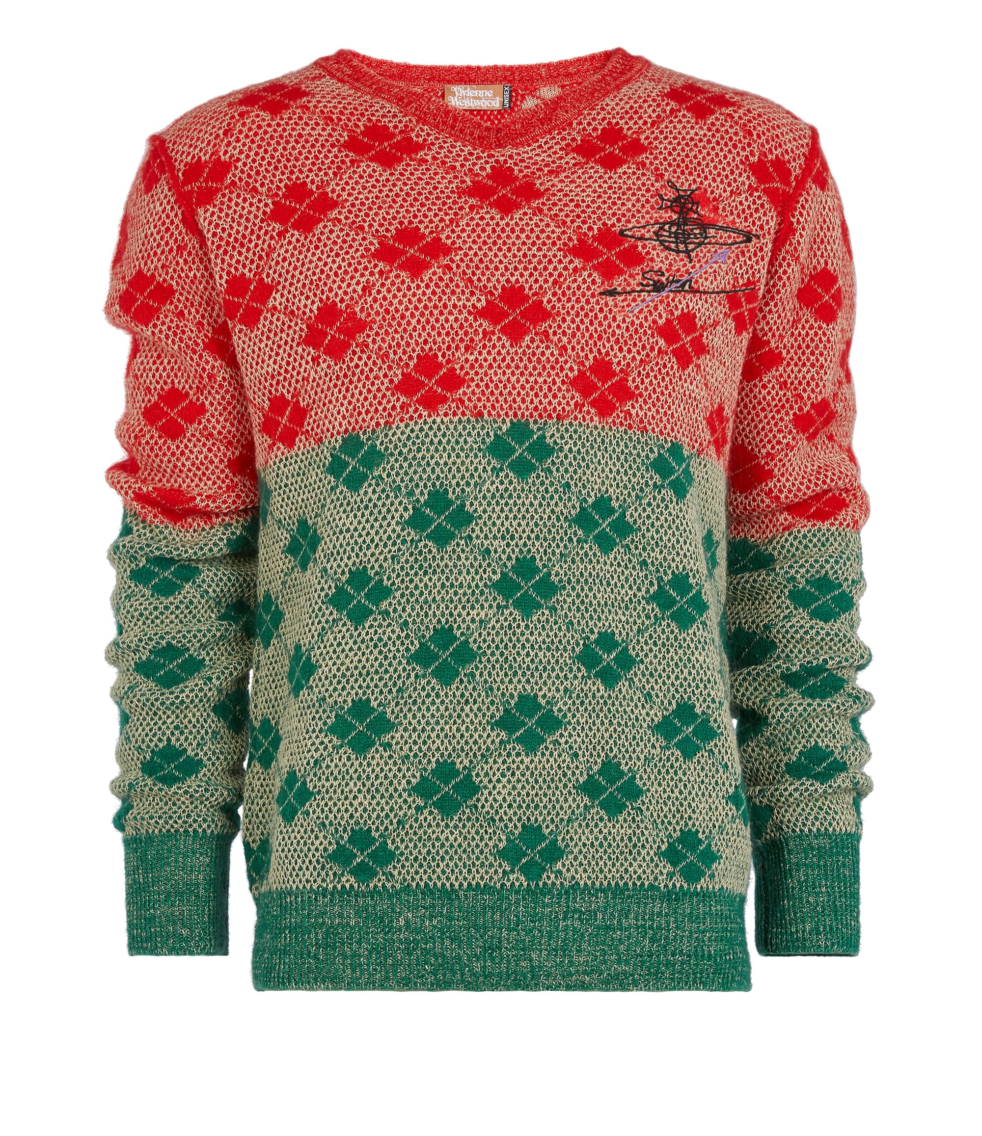 Vivienne Westwood Diamonds Jumper Red\/Green\/Natural Mix