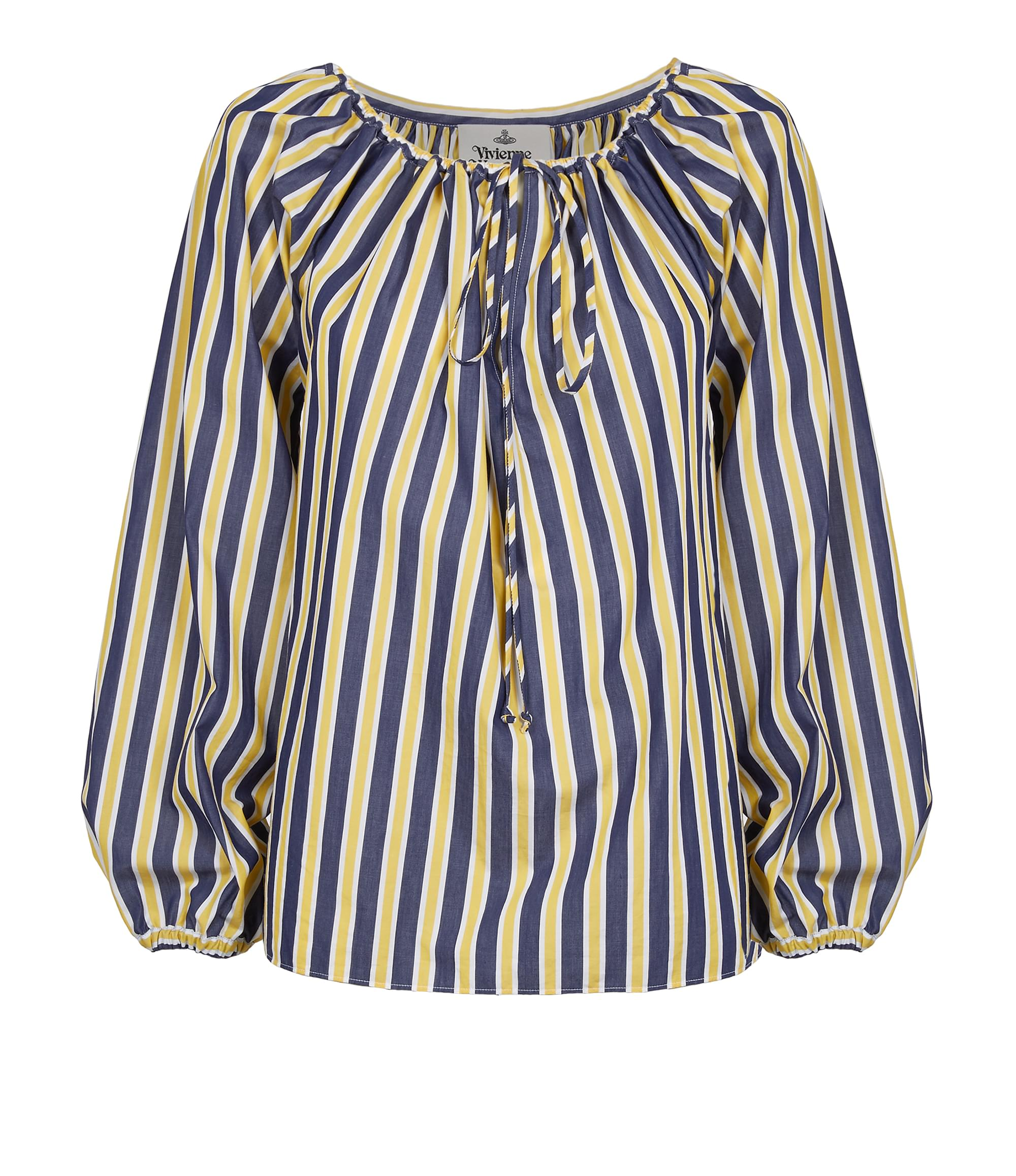 Vivienne Westwood Gipsy Shirt Blue\/Yellow Stripes