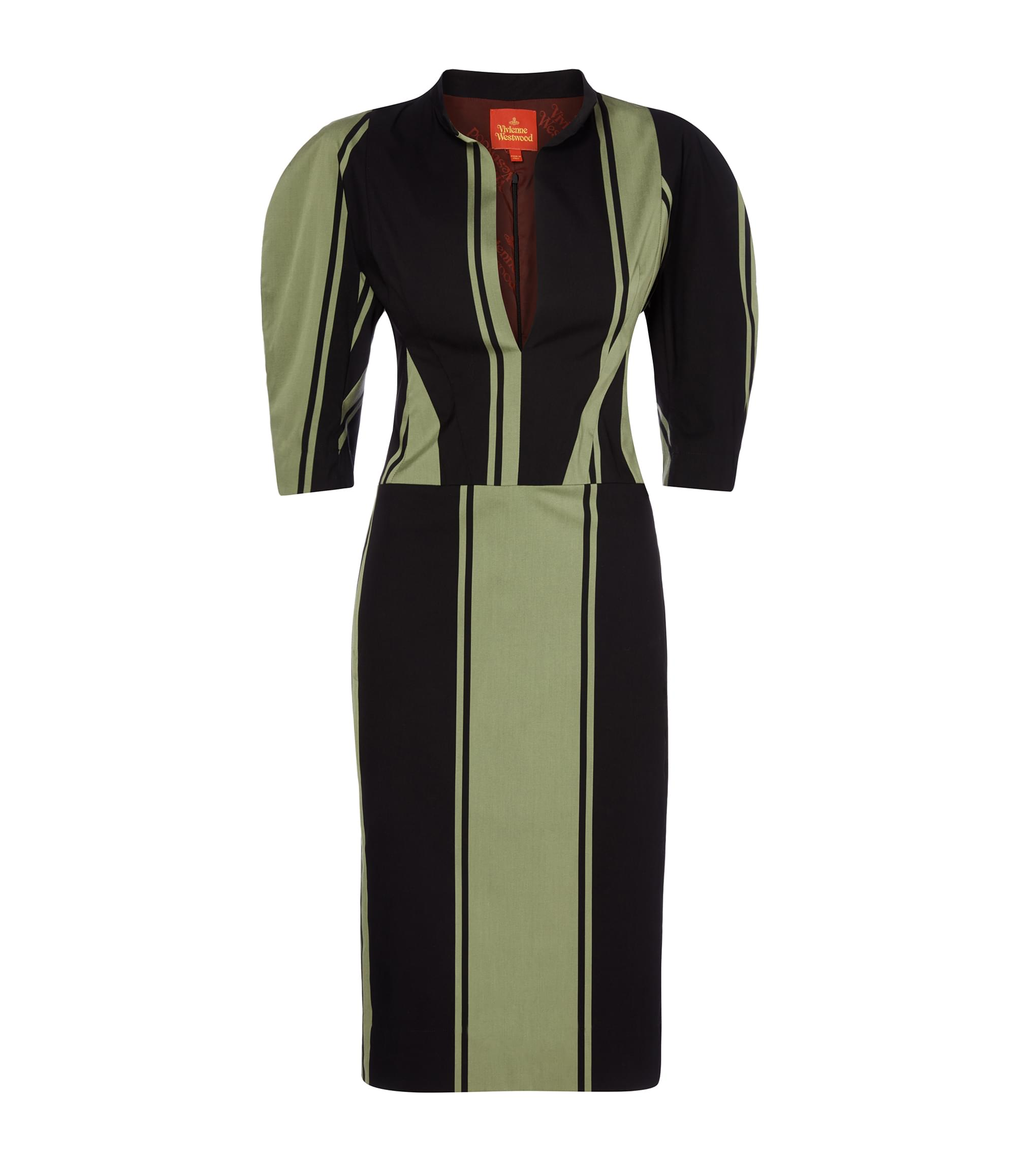 Vivienne Westwood Green Stripe Victoria Dress
