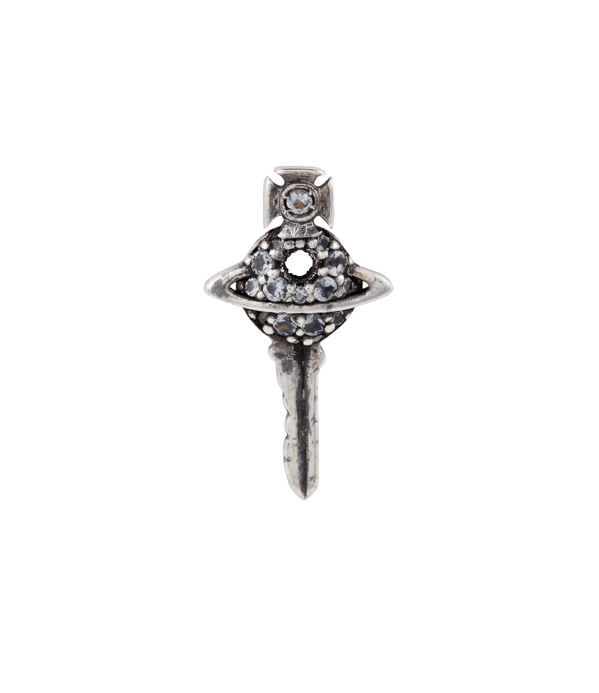 Vivienne Westwood Grey Darius Key Single Stud