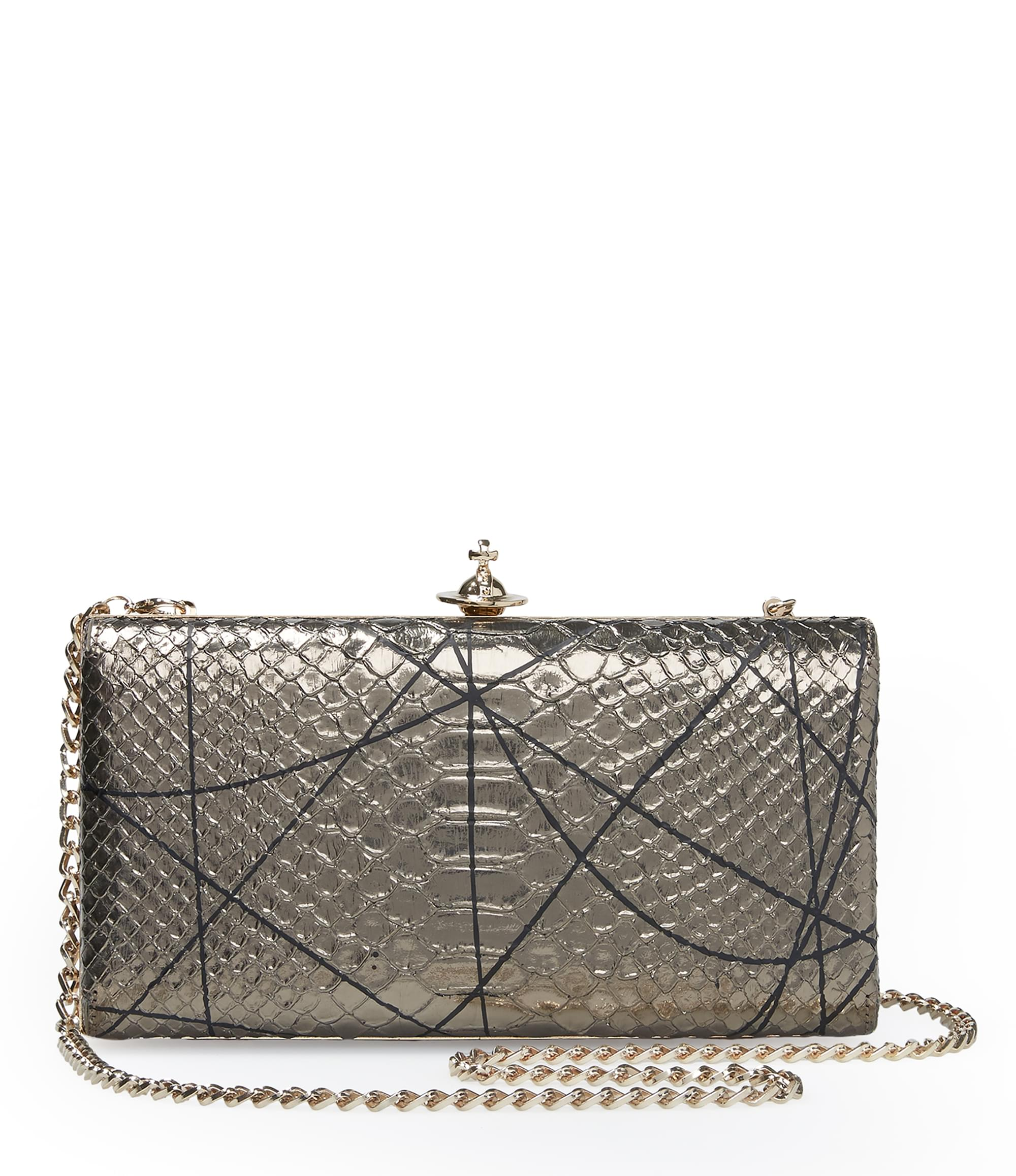 Vivienne Westwood Grey Pollock Clutch Bag 131071