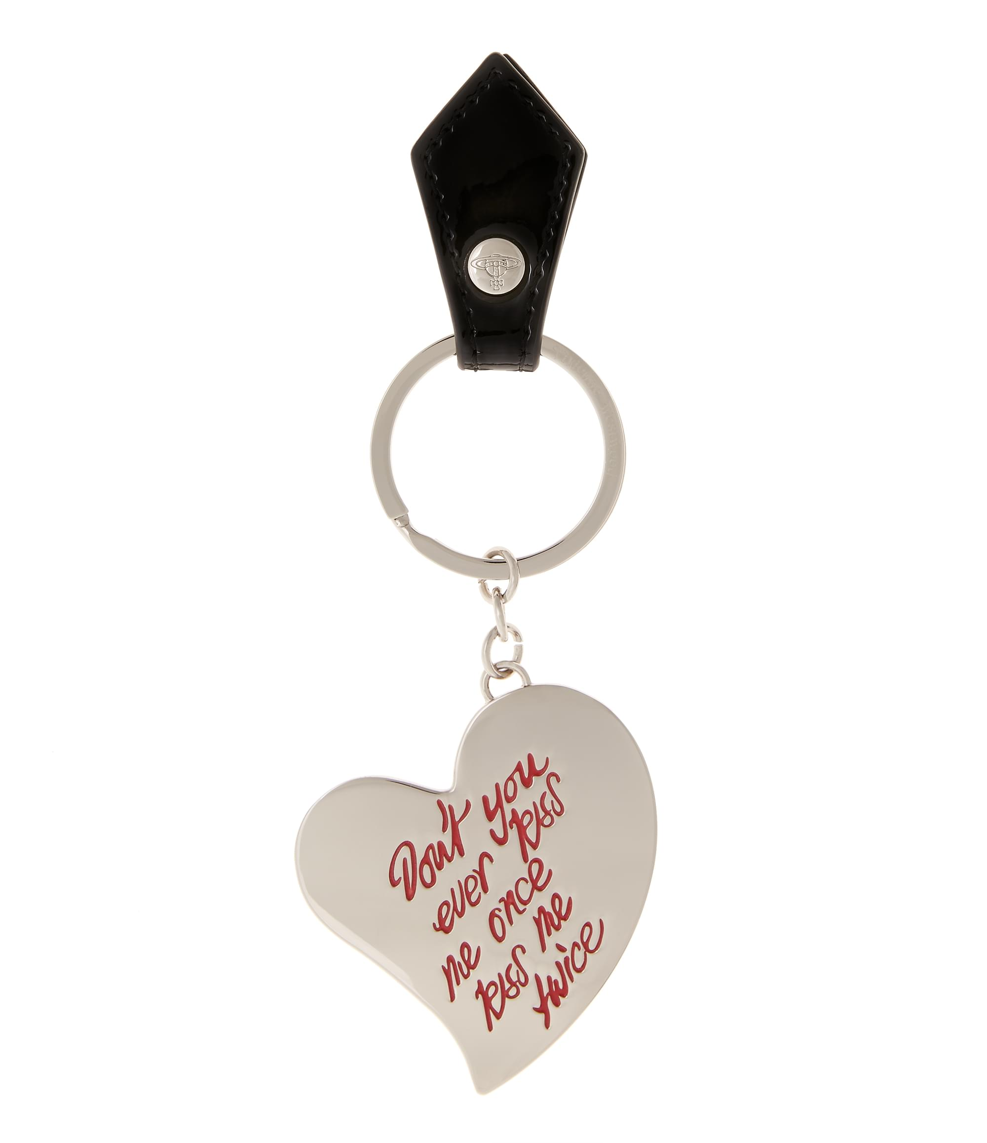 Vivienne Westwood Heart Key Ring 390070 Black
