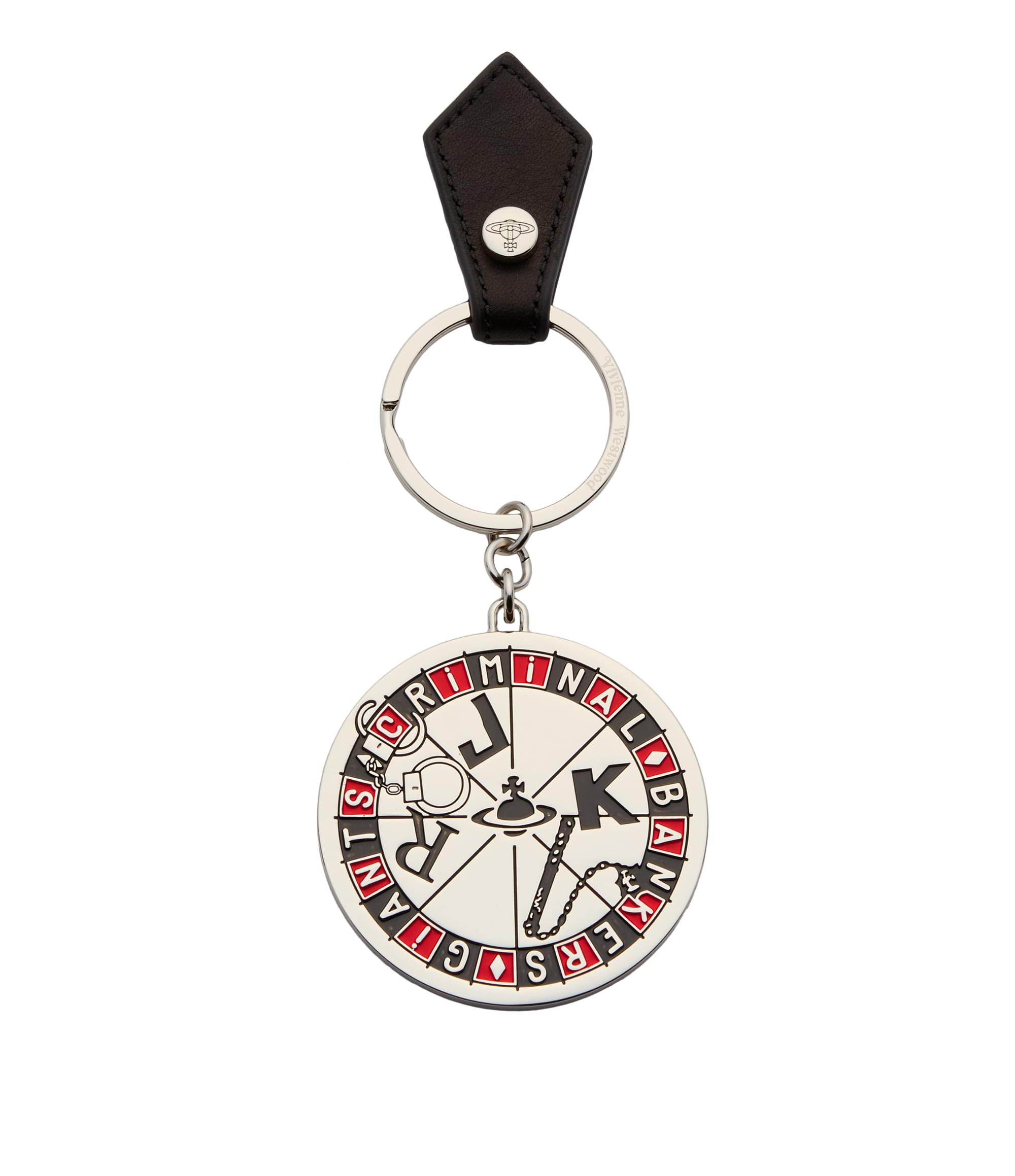 Vivienne Westwood Joker Roulette Key Ring 390076 Black