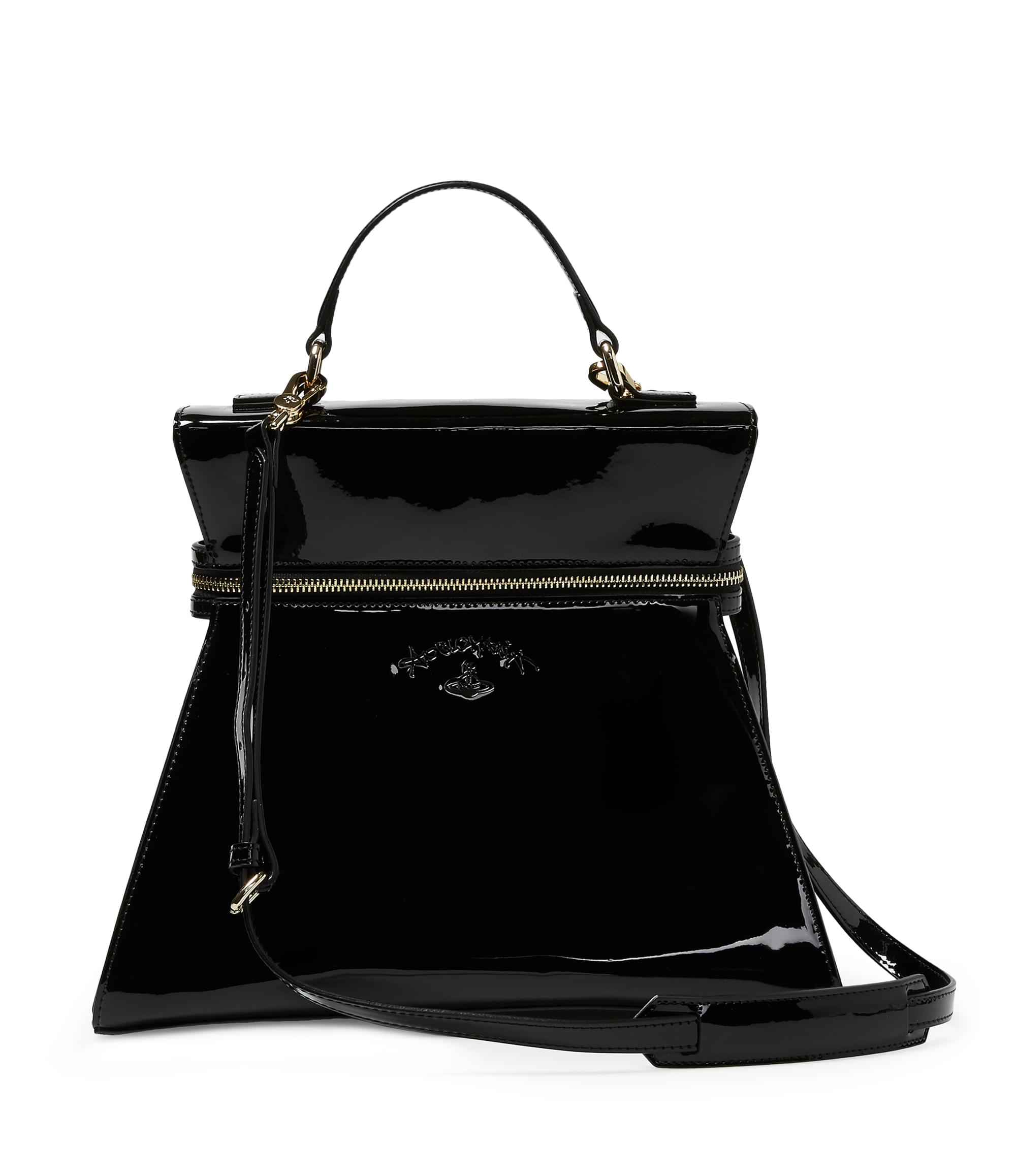 Vivienne Westwood Large Kelly Handbag 190043 Black