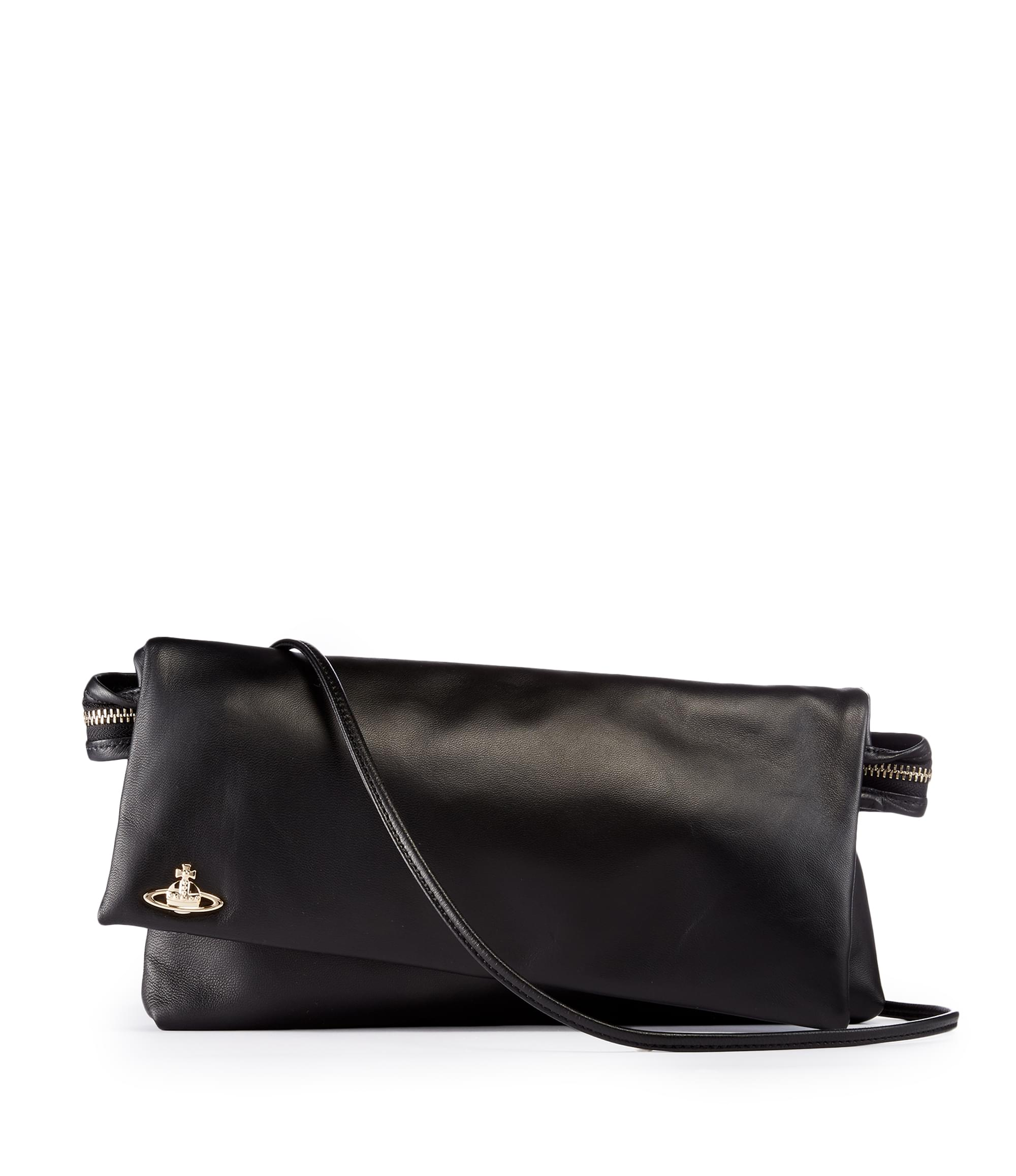 Vivienne Westwood Leather Tintwistle Clutch Bag 44020005 Black
