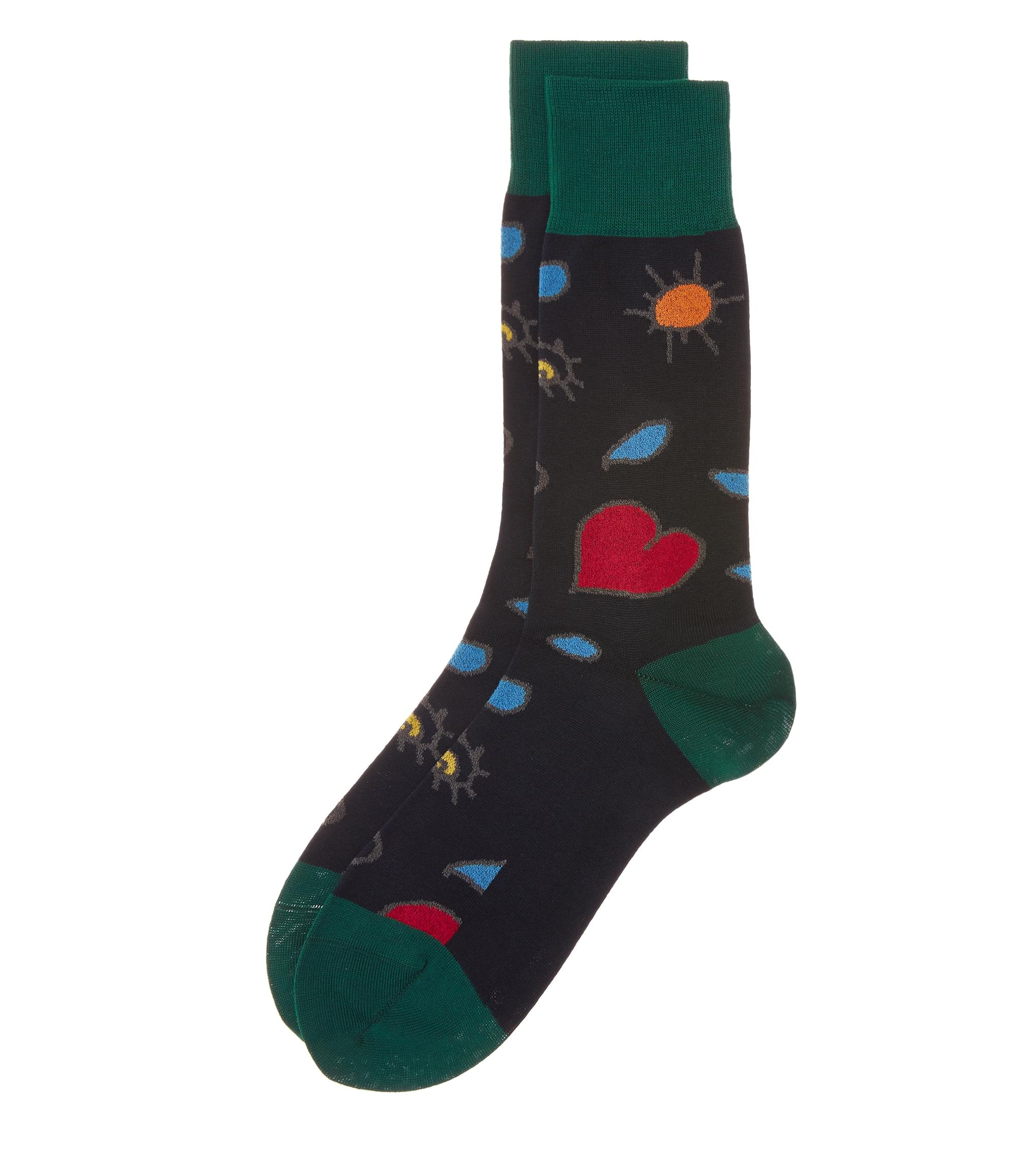 Vivienne Westwood Navy Heart and Eye Socks