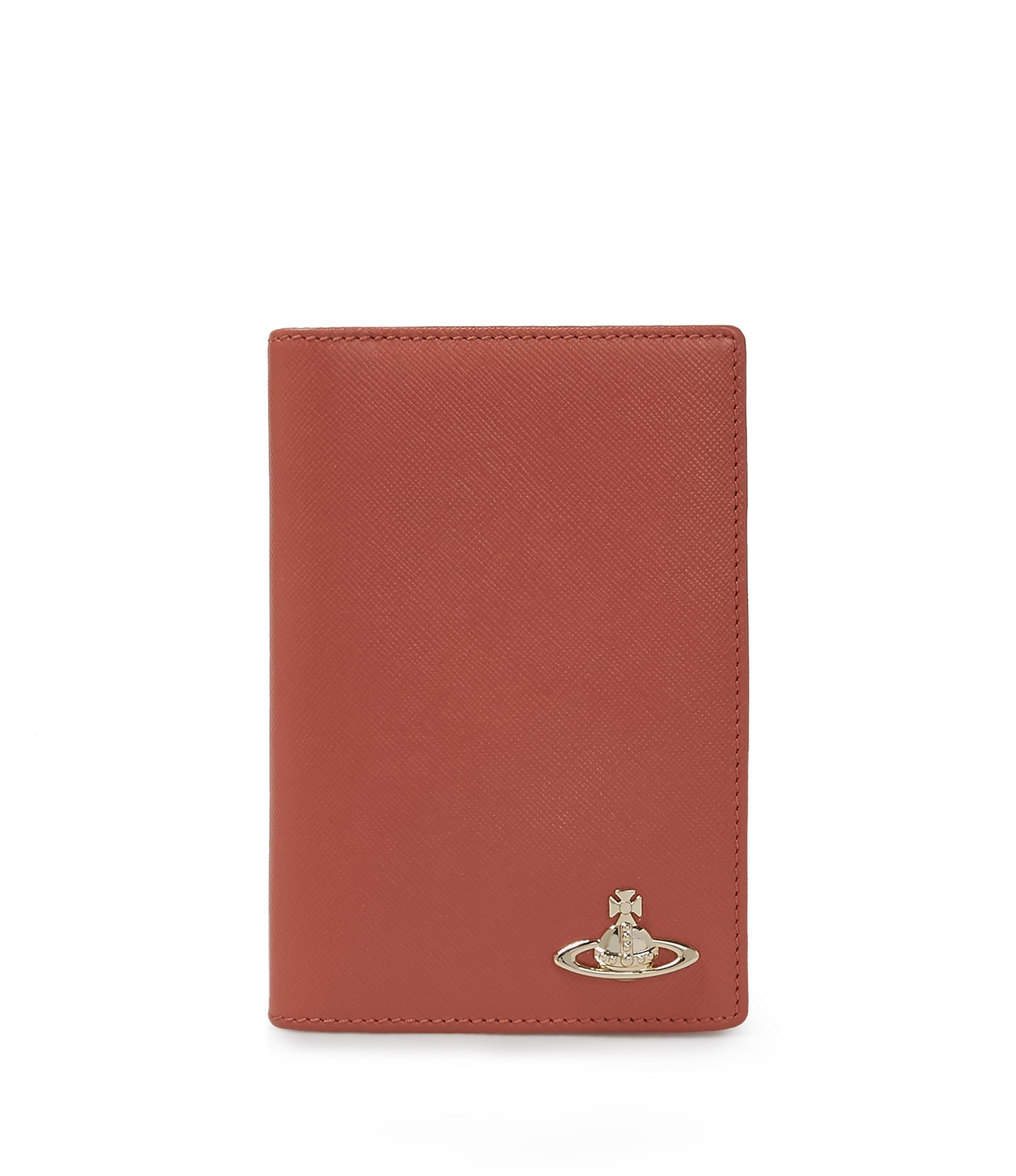 Vivienne Westwood Opio Saffiano Passport Holder 321529 Orange
