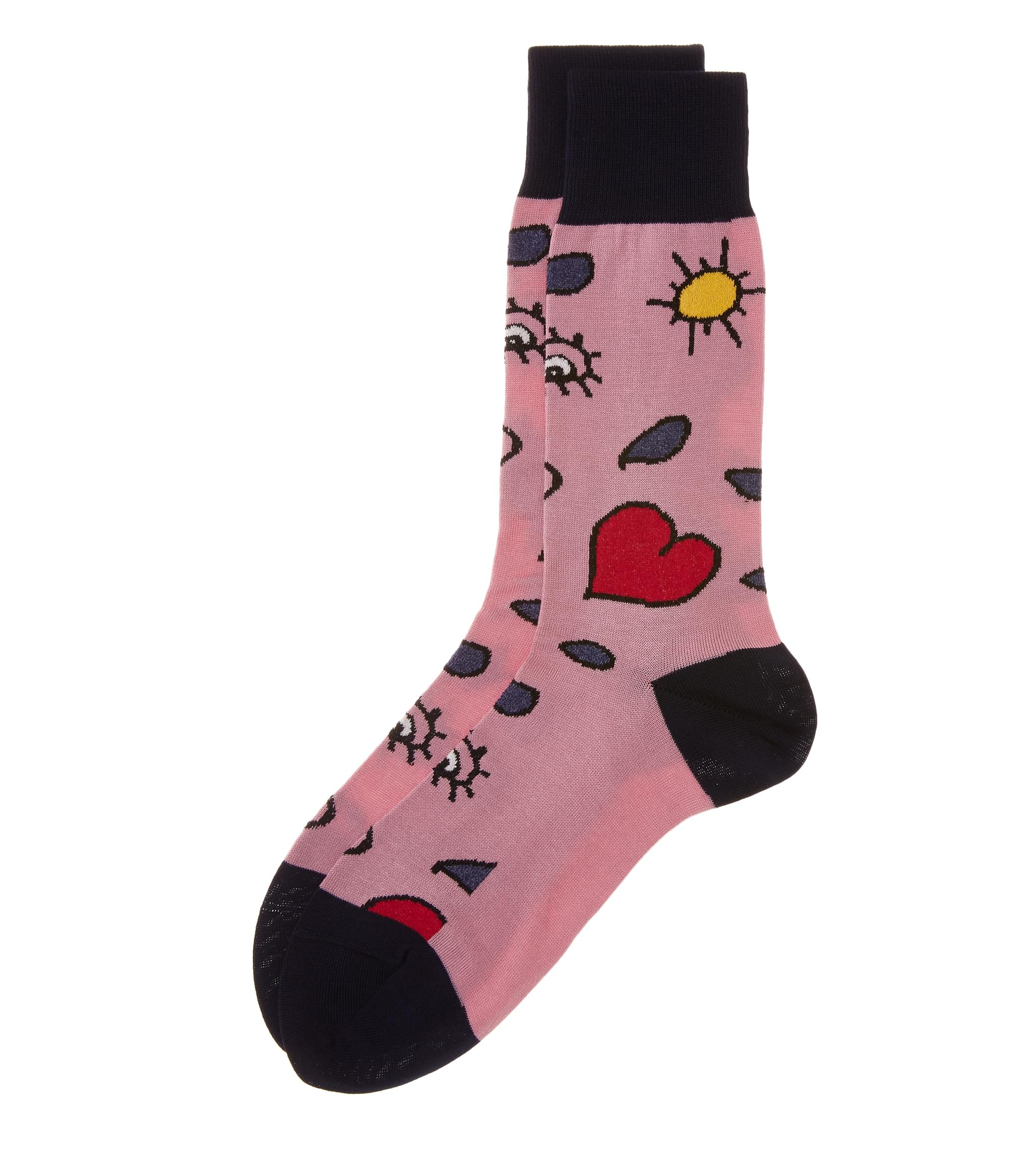 Vivienne Westwood Pink Heart and Eye Socks