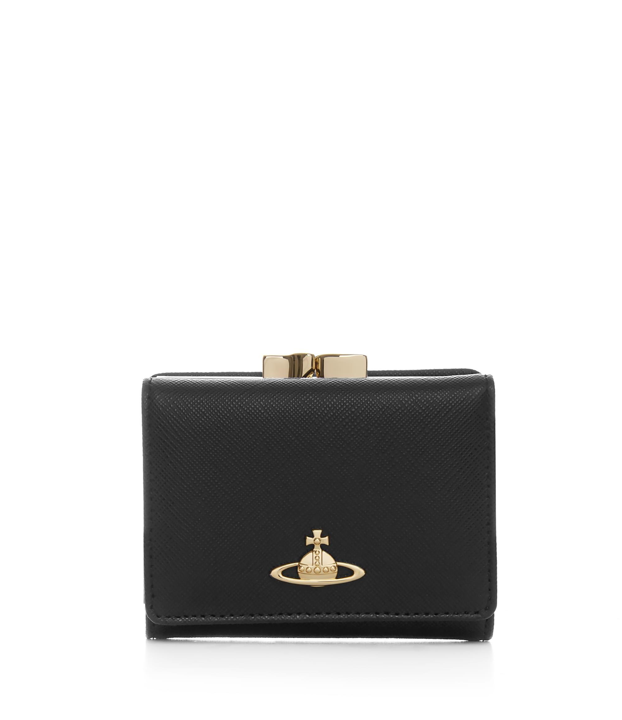 Vivienne Westwood Saffiano Wallet With Coin Pocket 51010001 Blac