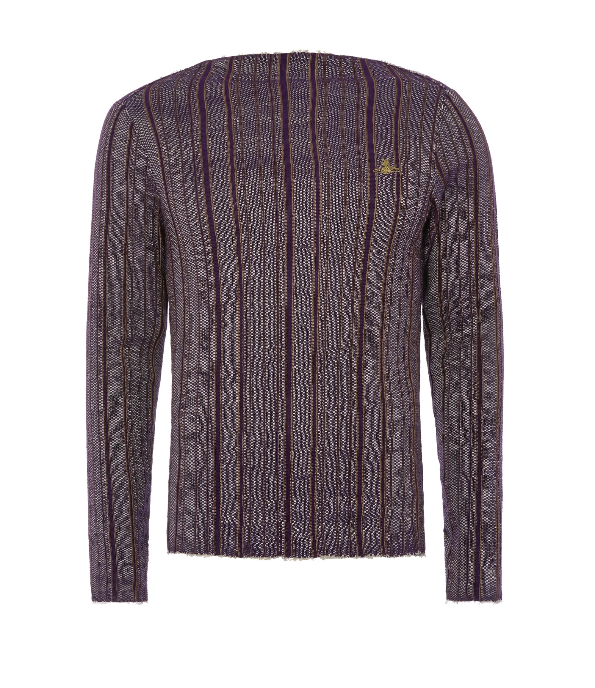 Vivienne Westwood Square Sweater Purple Stripes